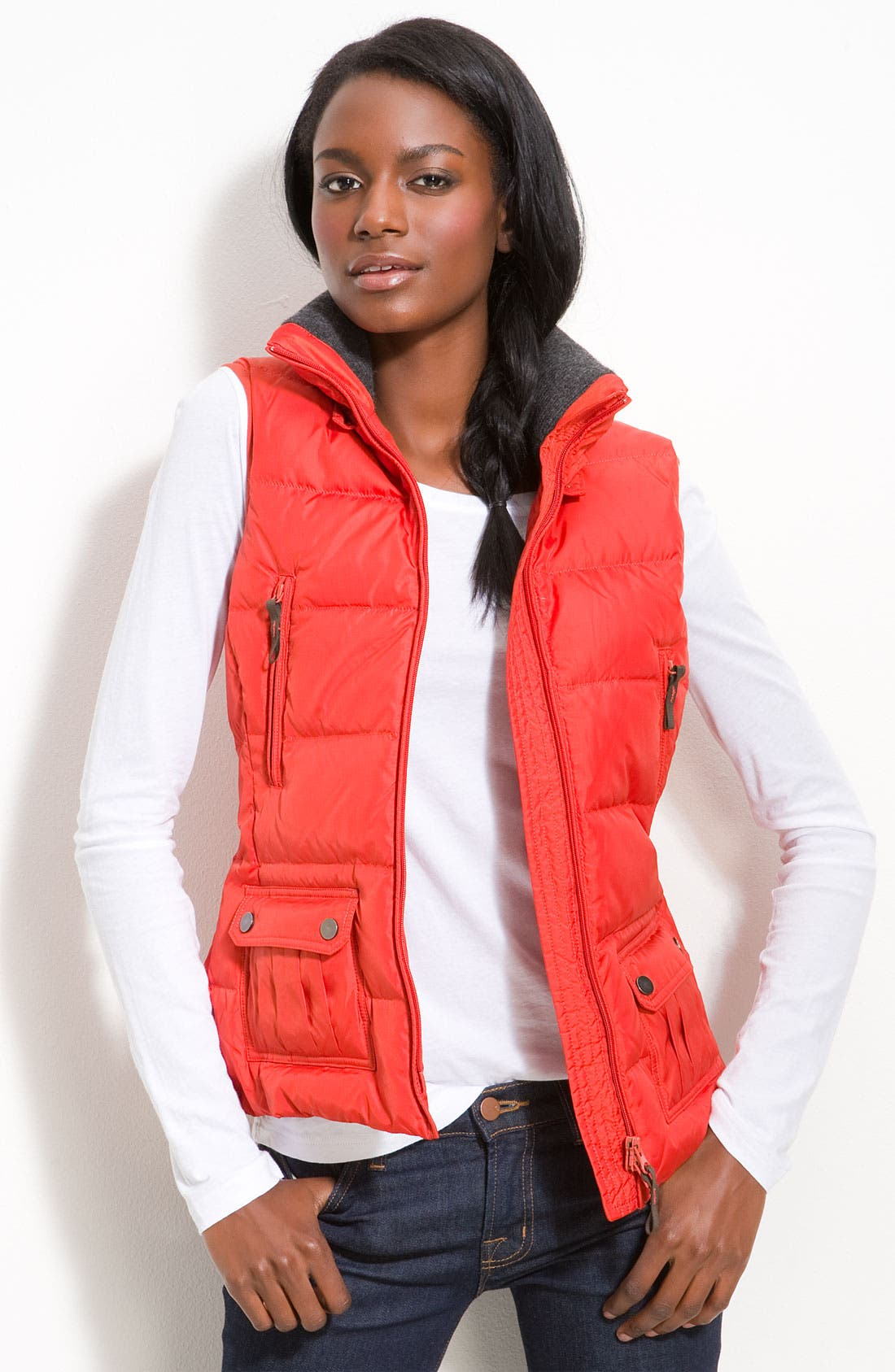 Alternate Image 2  - Kristen Blake Quilted Vest with Faux Fur Trim