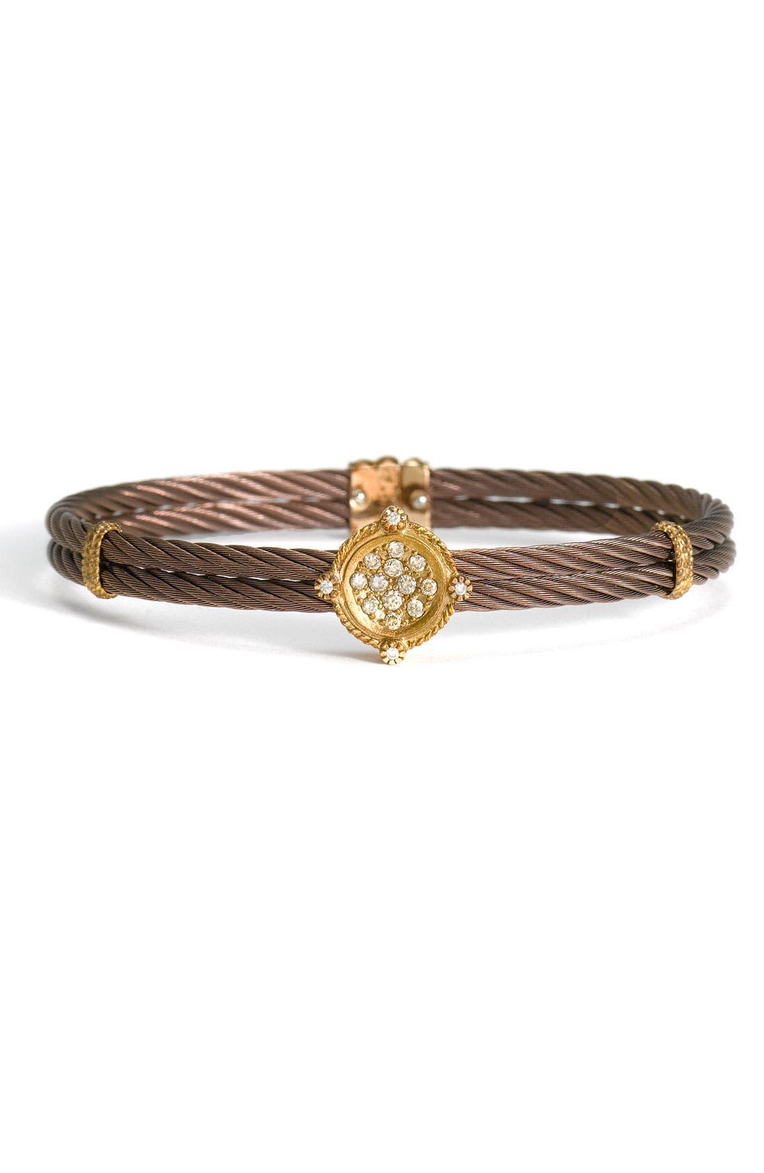 Alternate Image 1 Selected - ALOR® Champagne Diamond & Bronze Bracelet