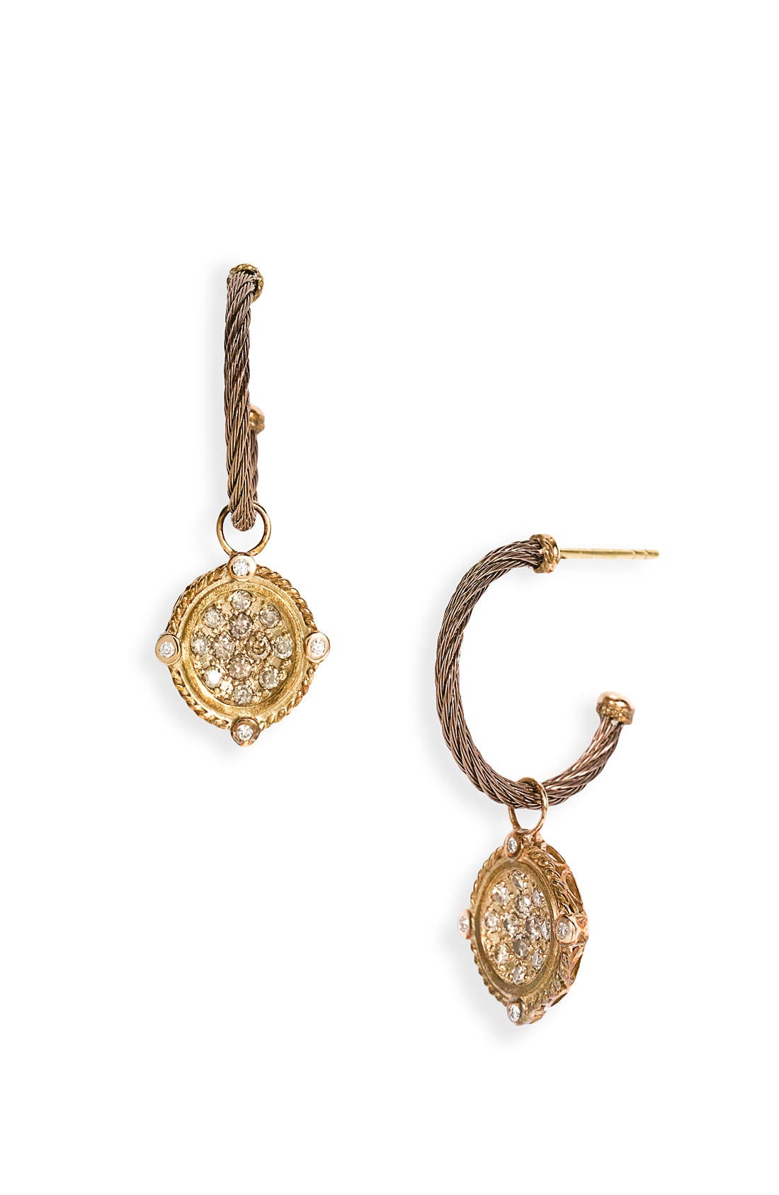 Alternate Image 1 Selected - ALOR® Champagne Diamond & Bronze Drop Earrings