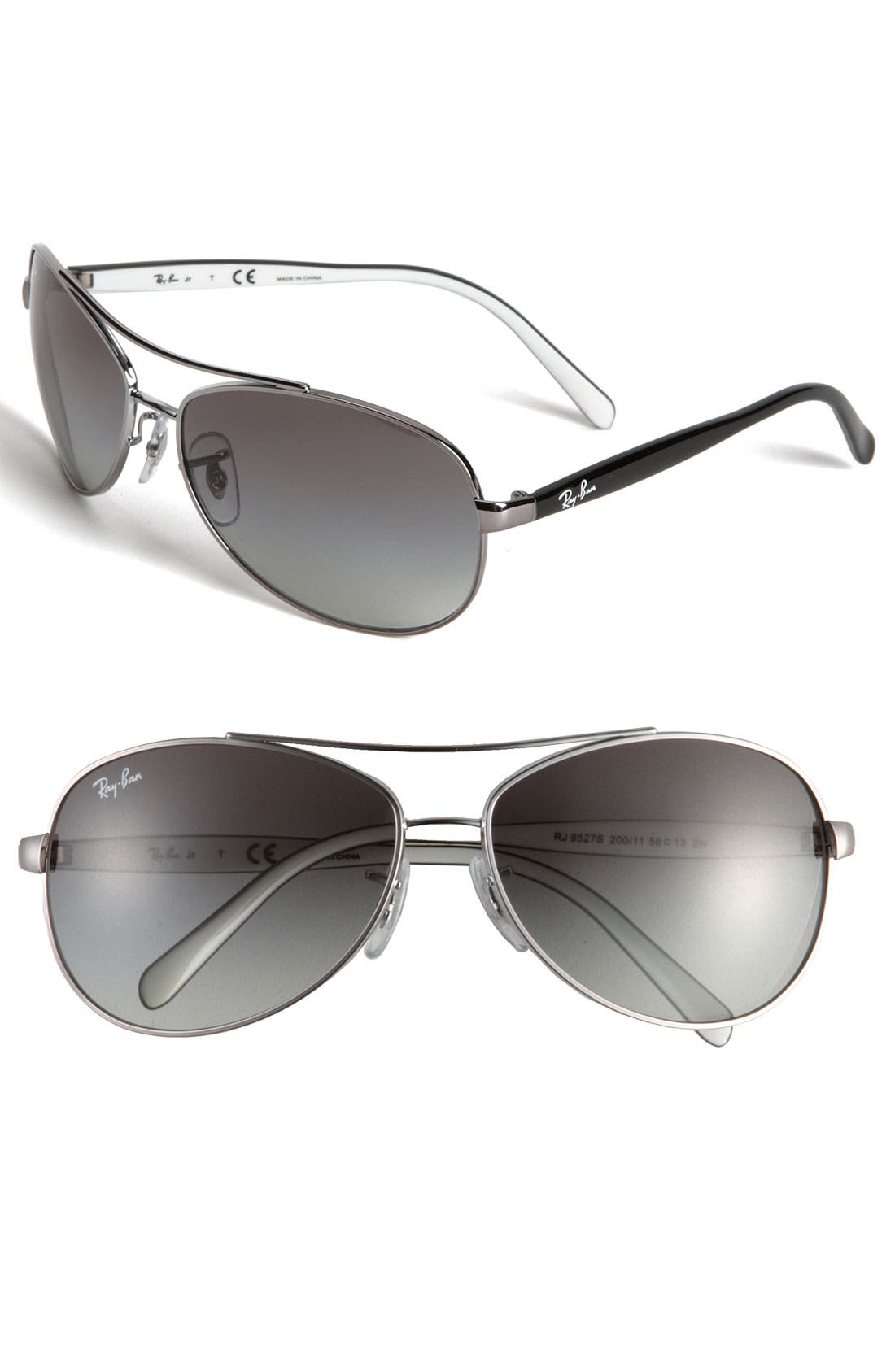 Alternate Image 1 Selected - Ray-Ban Aviator 56mm Sunglasses (Boys)