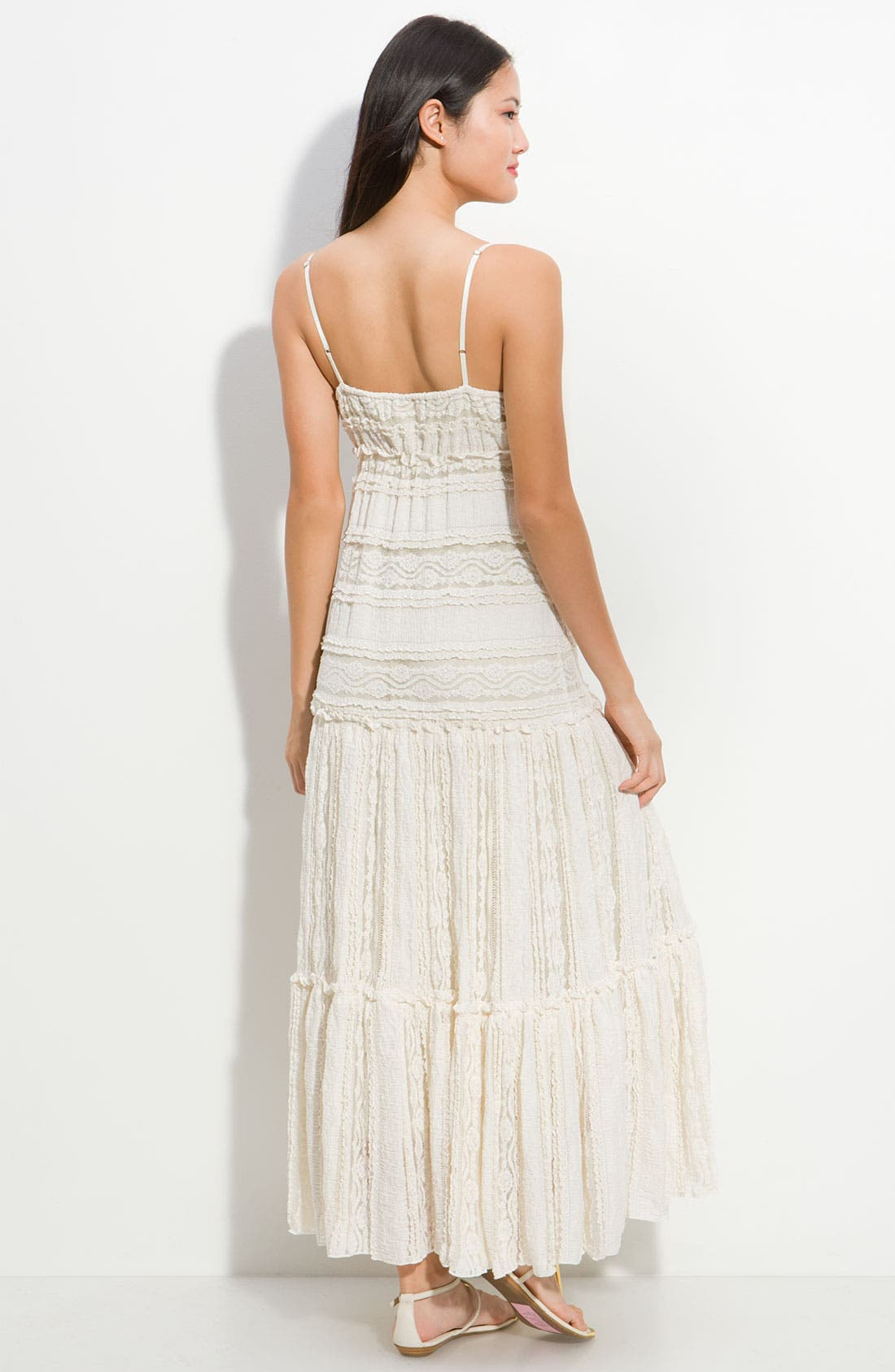 Alternate Image 2  - Eliza J Lace Maxi Dress