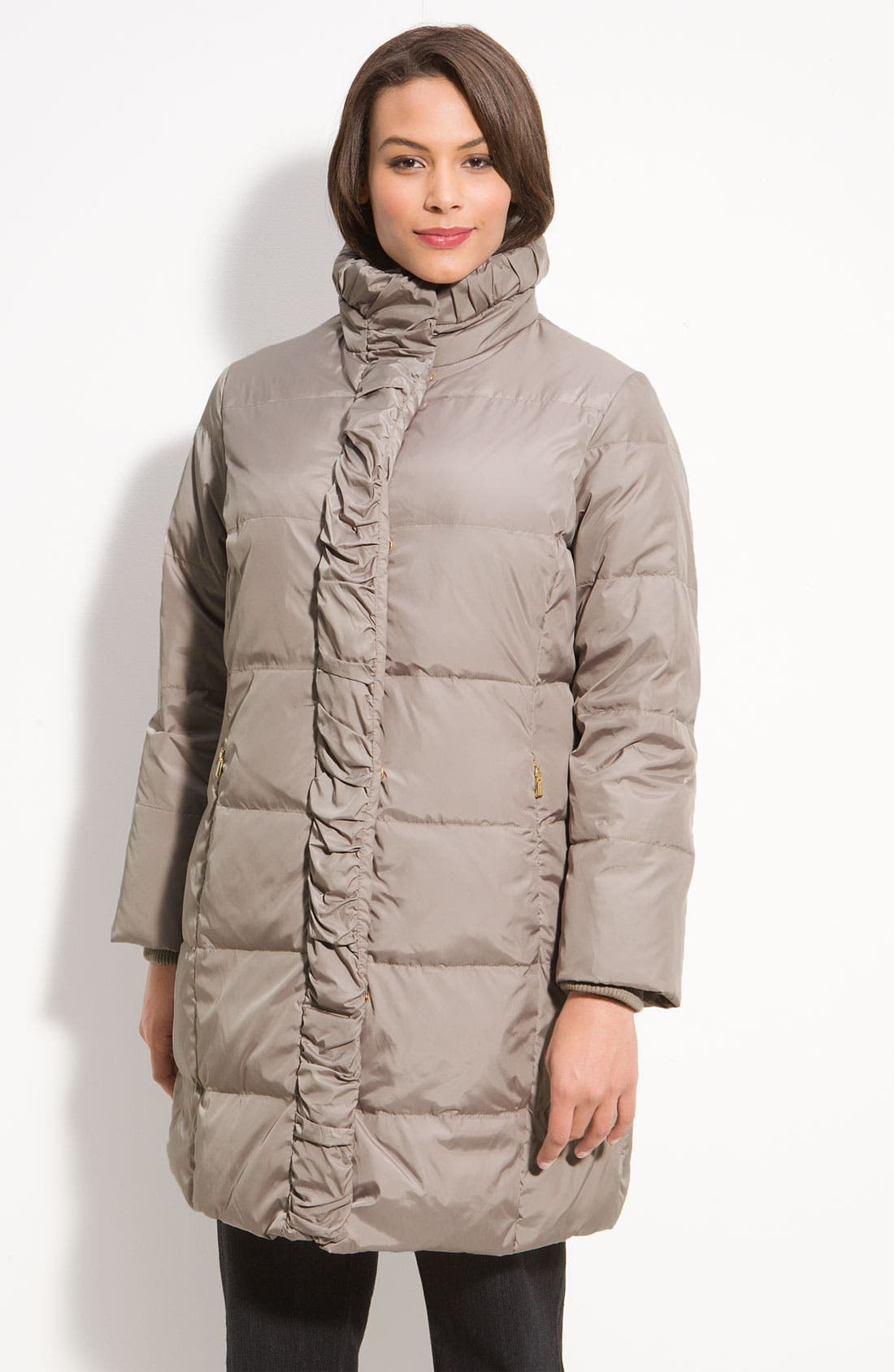 Alternate Image 1 Selected - Ellen Tracy Quilted Down Walking Coat (Plus)