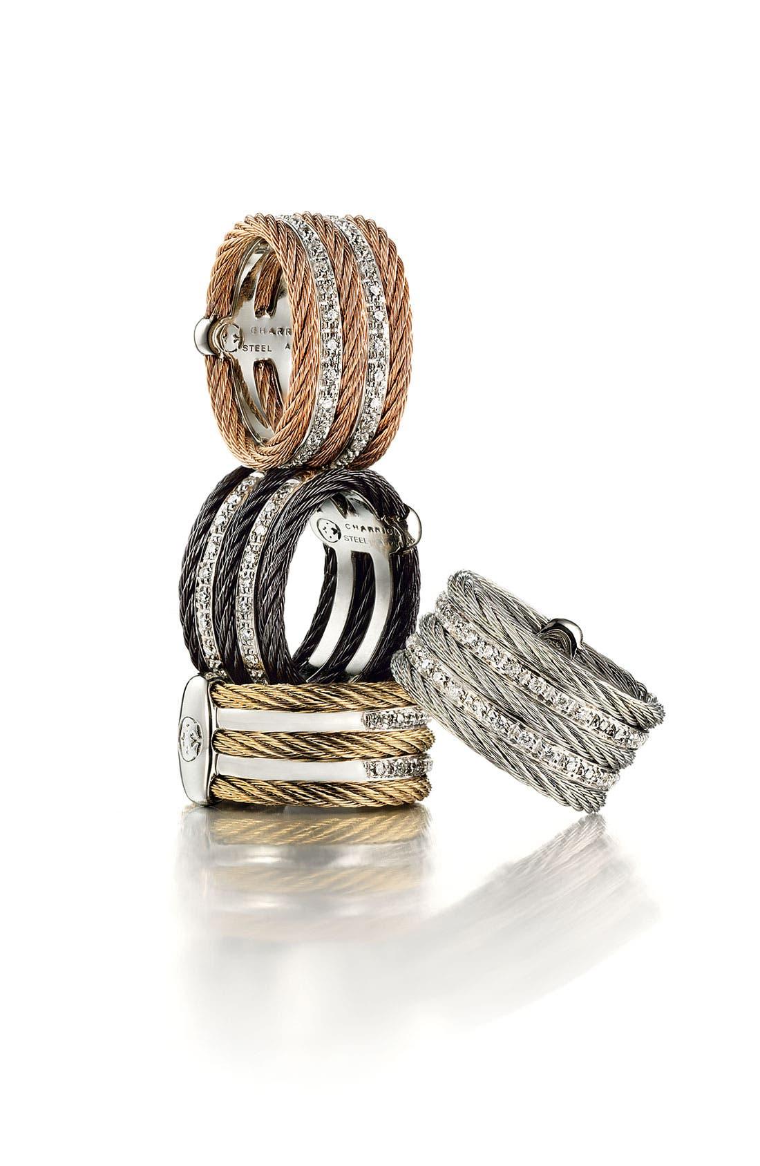 Alternate Image 2  - ALOR® 5 Row Diamond Ring