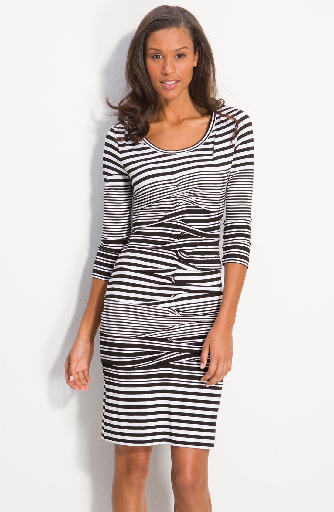 Alternate Image 1 Selected - Nicole Miller Stripe Jersey Sheath Dress