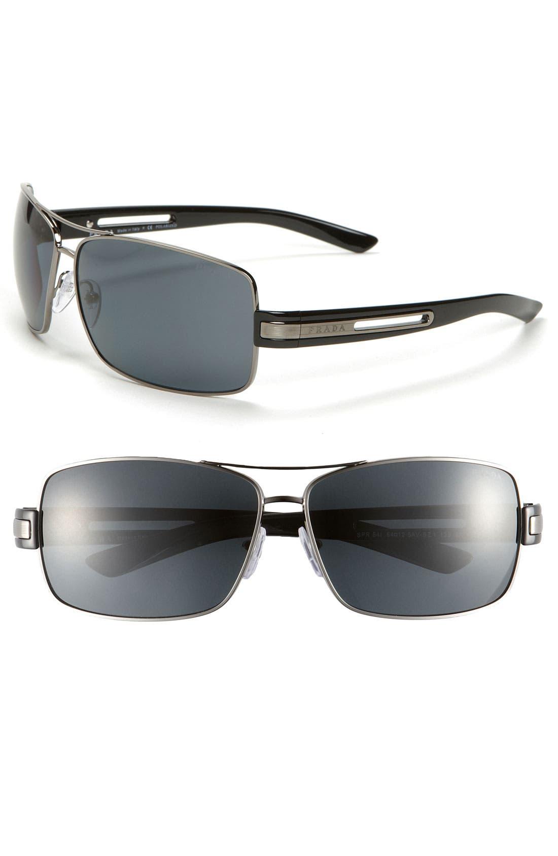 Alternate Image 1 Selected - Prada Polarized Aviator Sunglasses