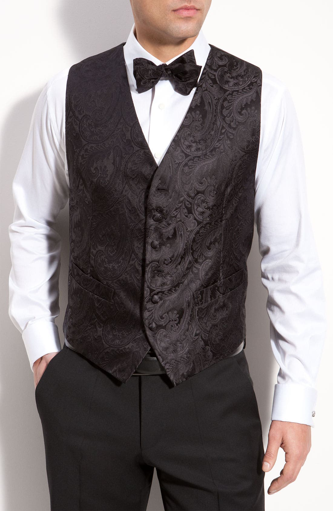 Main Image - David Donahue Silk Vest (Online Only)