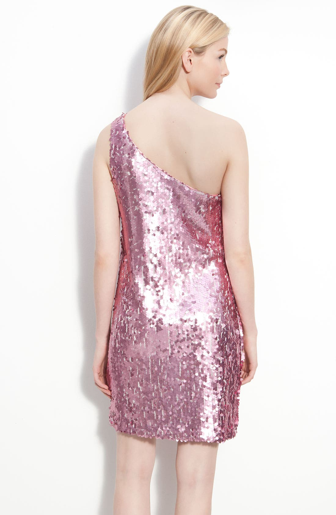 Alternate Image 2  - Alexia Admor One Shoulder Sequin Dress
