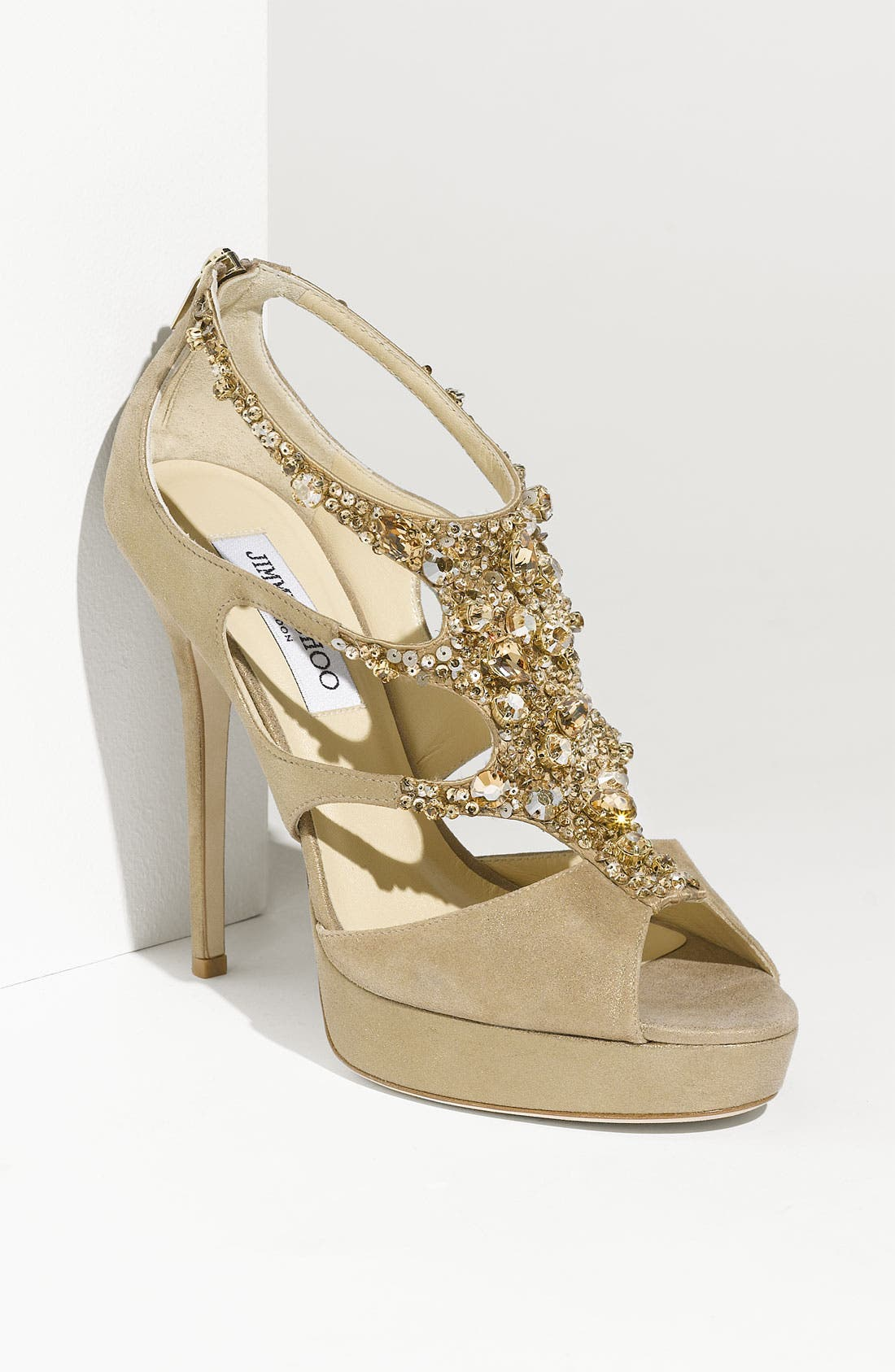 Alternate Image 1 Selected - Jimmy Choo 'Teal Tawny' Jeweled Sandal