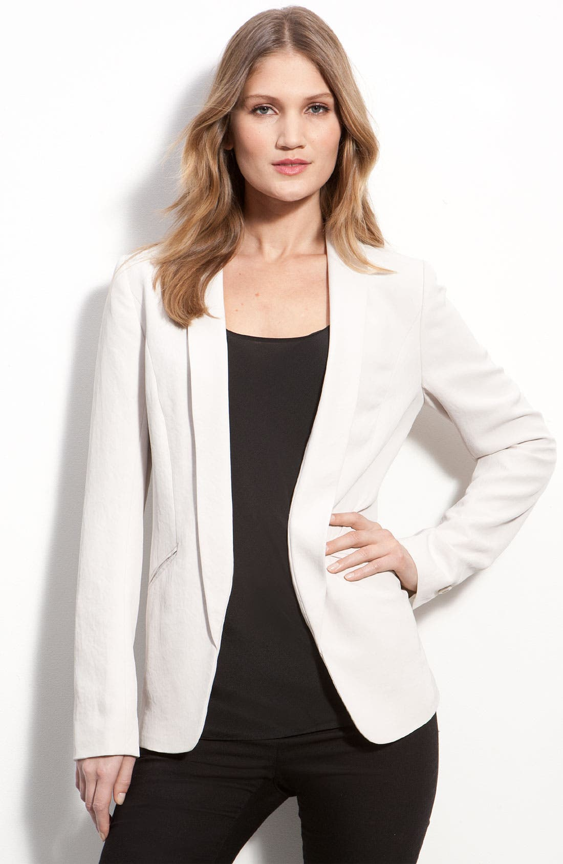 Main Image - Classiques Entier® 'Malin' Modern Shawl Collar Jacket