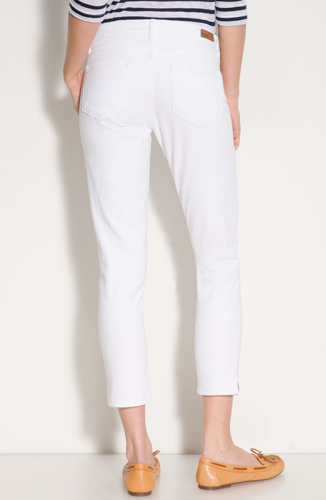 Main Image - Paige Denim 'Kylie' Crop Skinny Jeans (Optic White Wash)