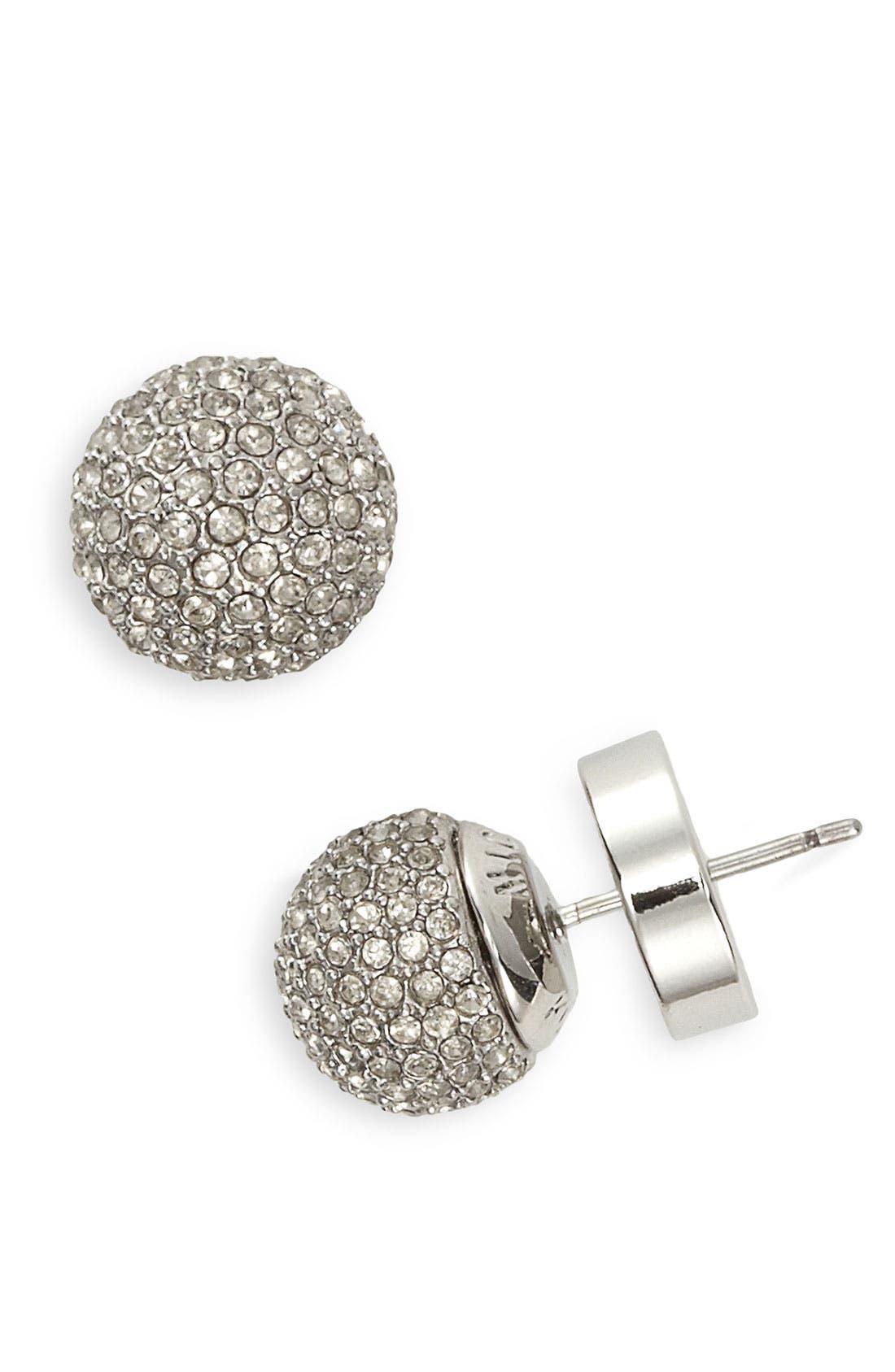 Alternate Image 1 Selected - Michael Kors Pavé Ball Stud Earrings