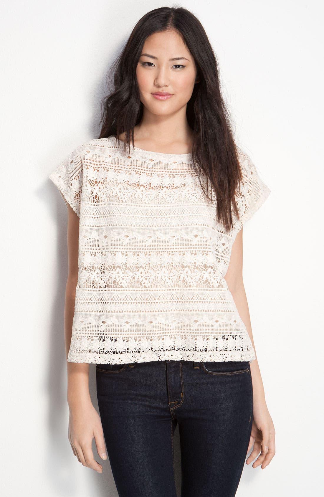 Alternate Image 1 Selected - Sanctuary Cotton Lace Boxy Top