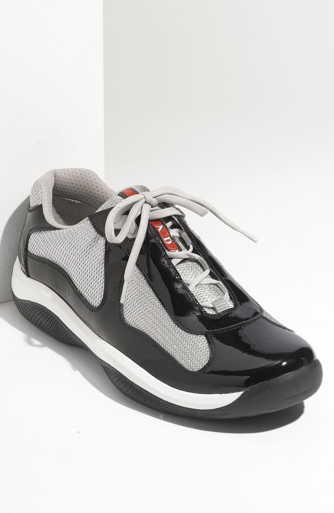 Main Image - Prada 'Punta Ala' Mesh & Leather Sneaker (Men)