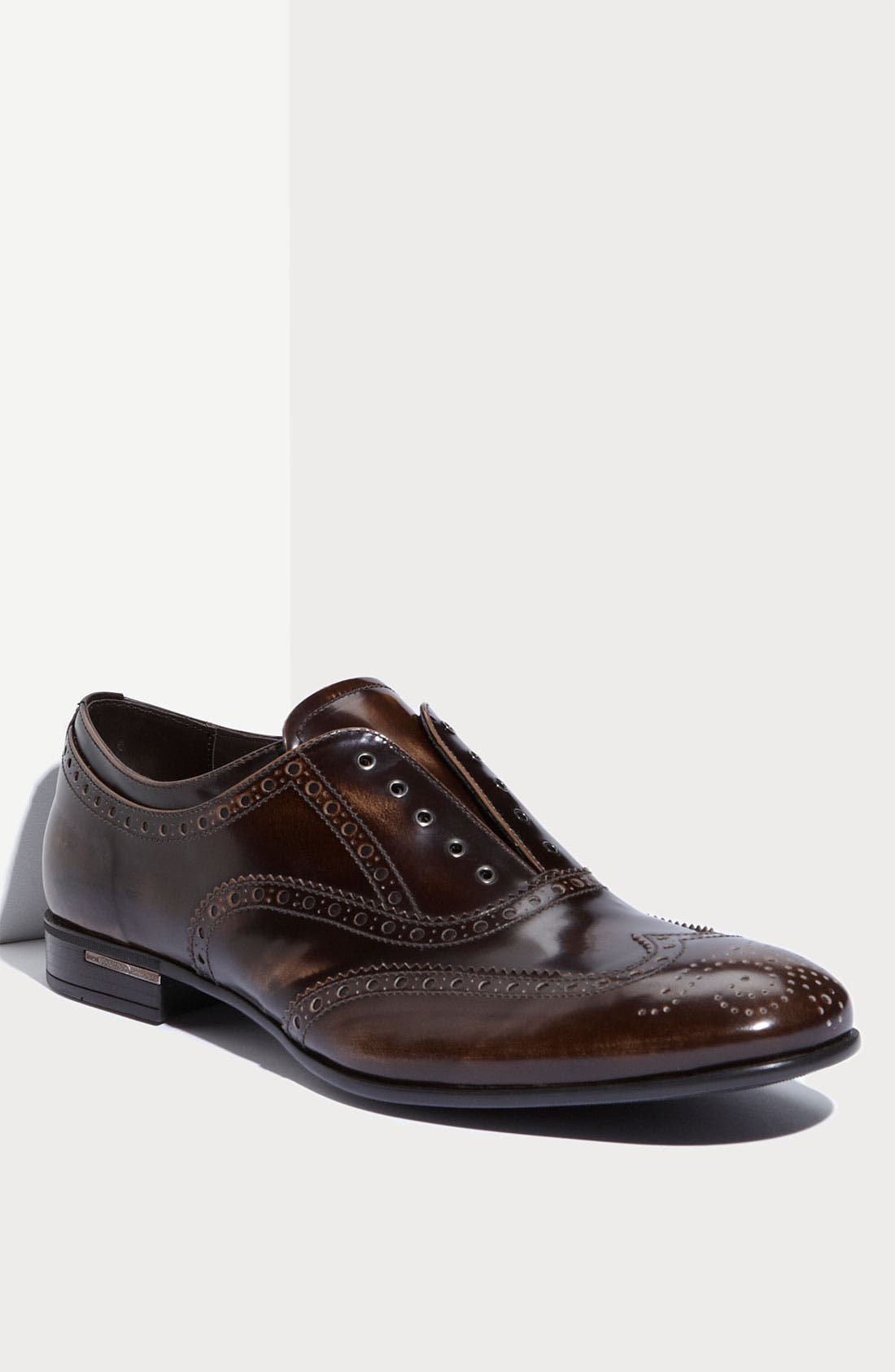Alternate Image 1 Selected - Prada Laceless Wingtip Oxford