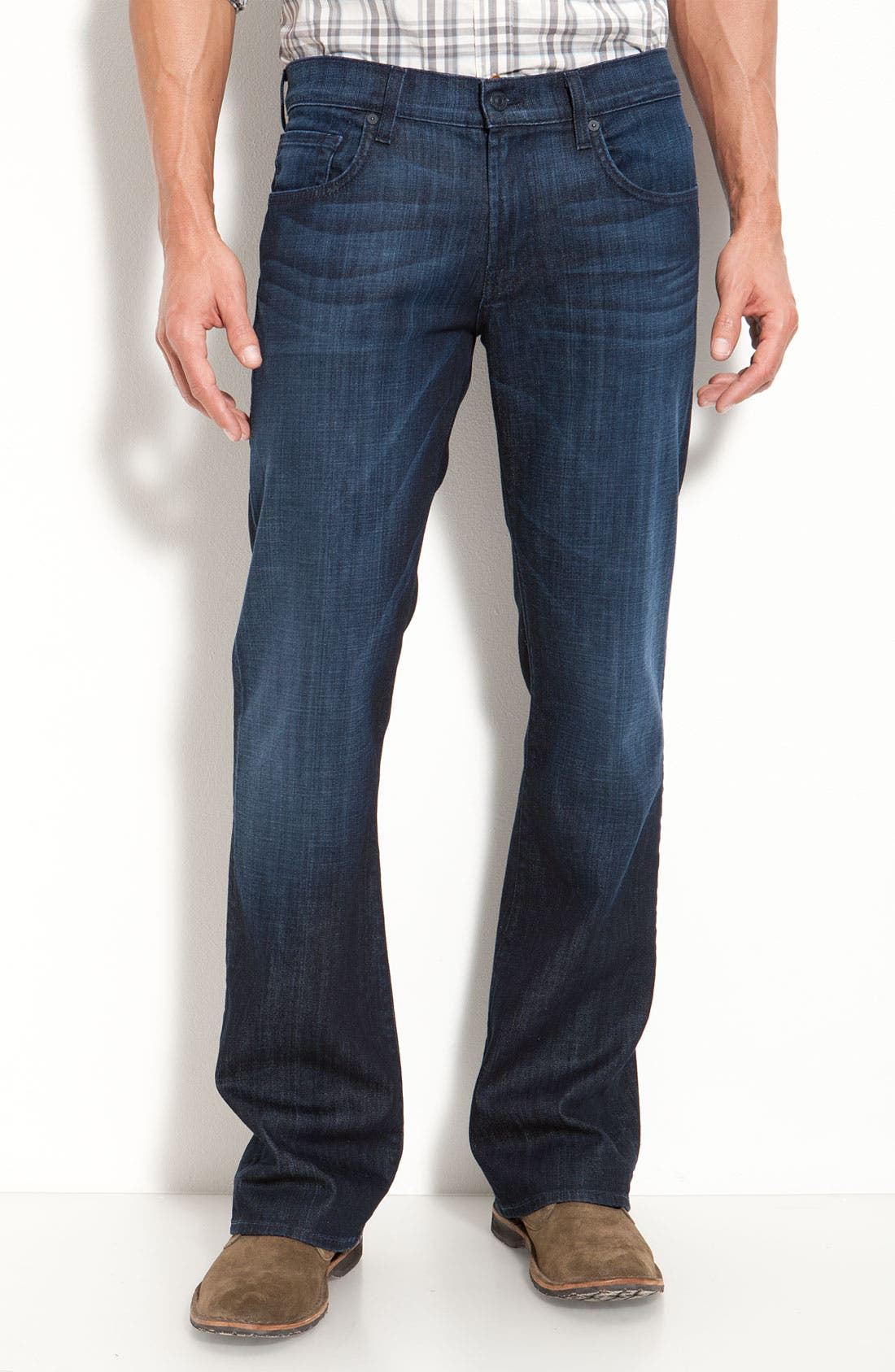 Main Image - 7 For All Mankind® 'Brett' Relaxed Bootcut Jeans (Rose Ave)