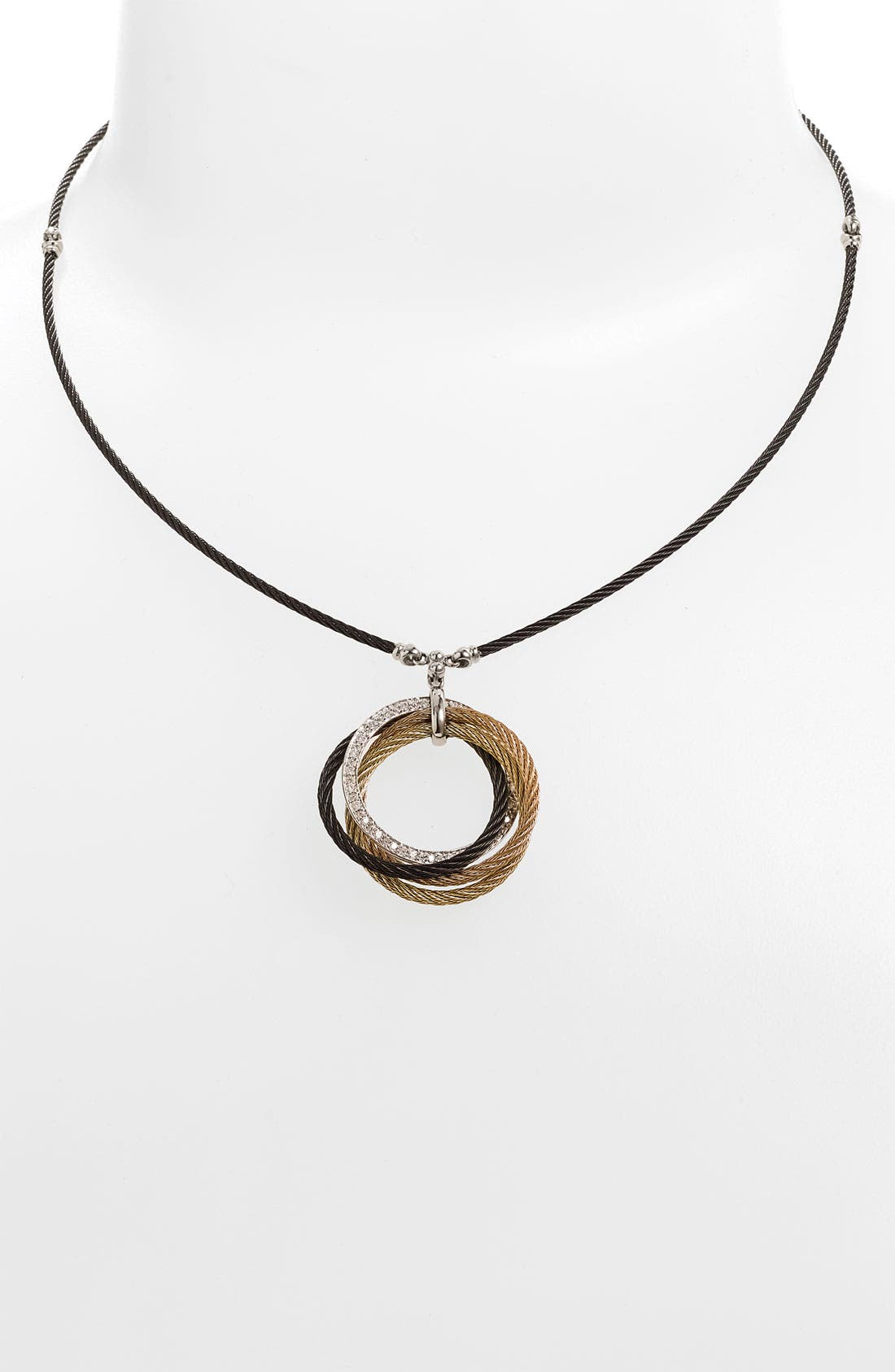 Main Image - ALOR® Interlocked Cable Diamond Pendant Necklace