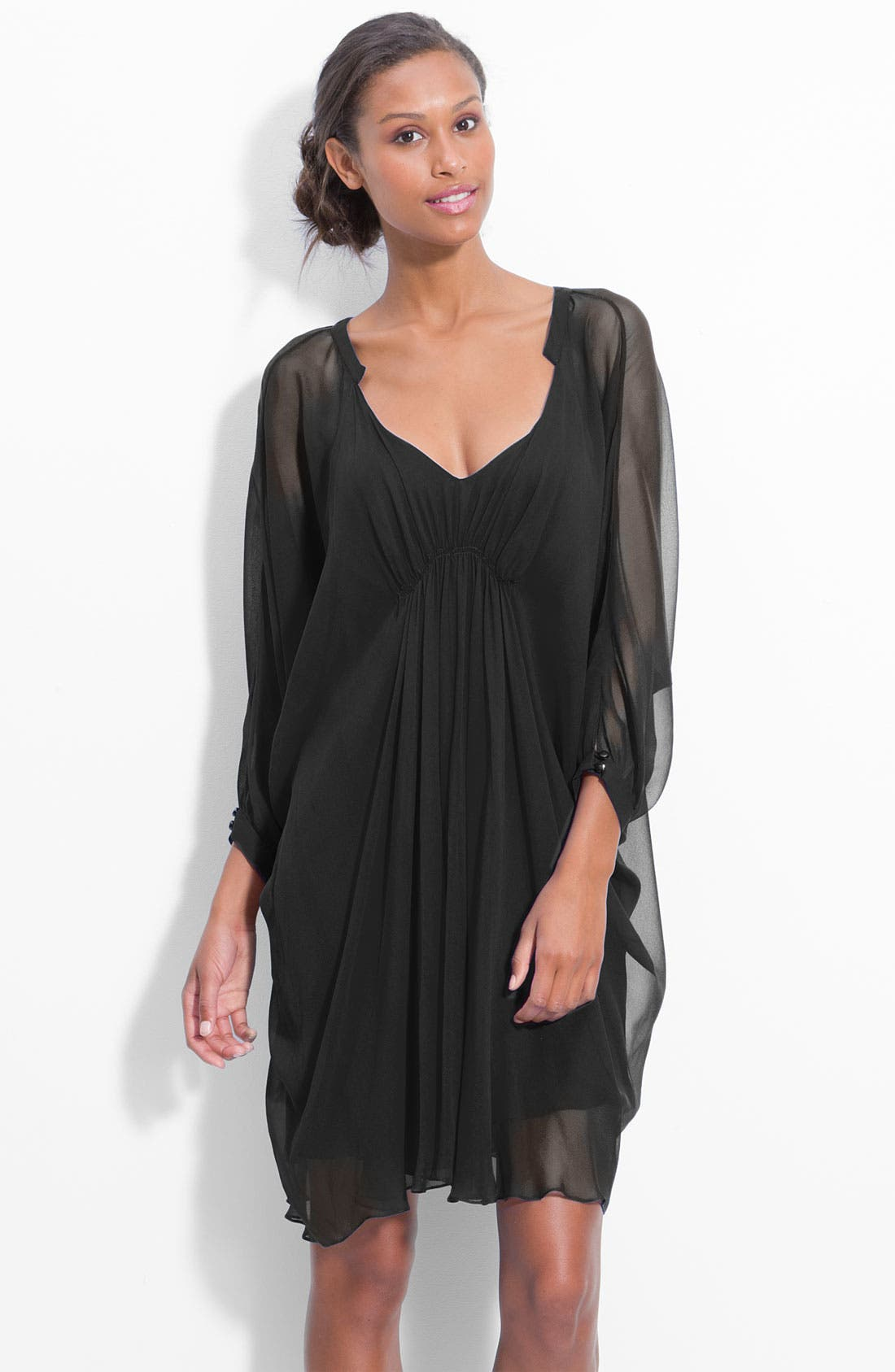 Alternate Image 1 Selected - Suzi Chin Maggy Boutique V-Neck Chiffon Dress