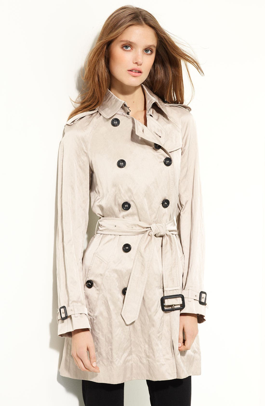 Alternate Image 1 Selected - Burberry London Belted Satin Trench