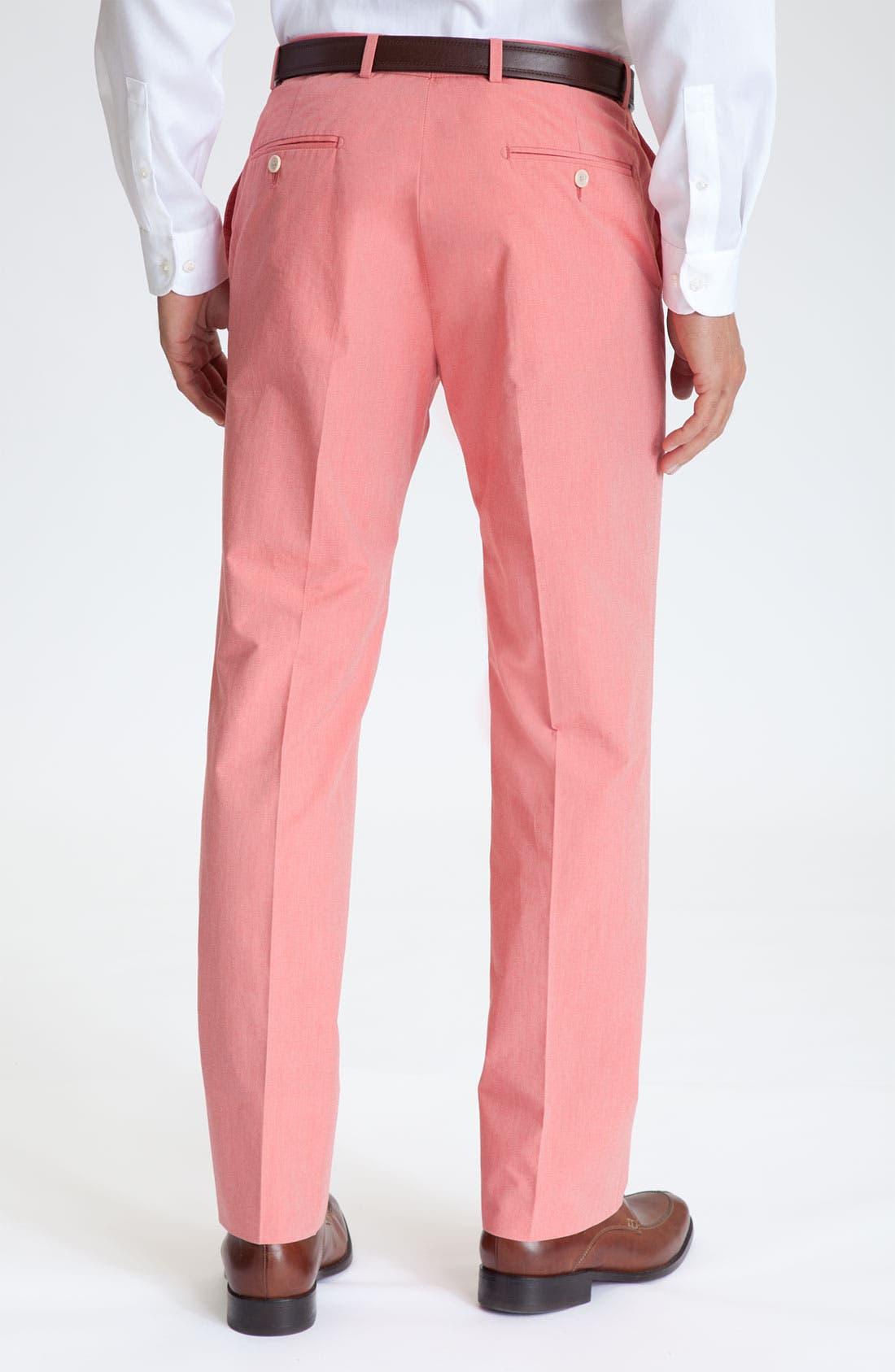 Alternate Image 2  - Hart Schaffner Marx Flat Front Trousers
