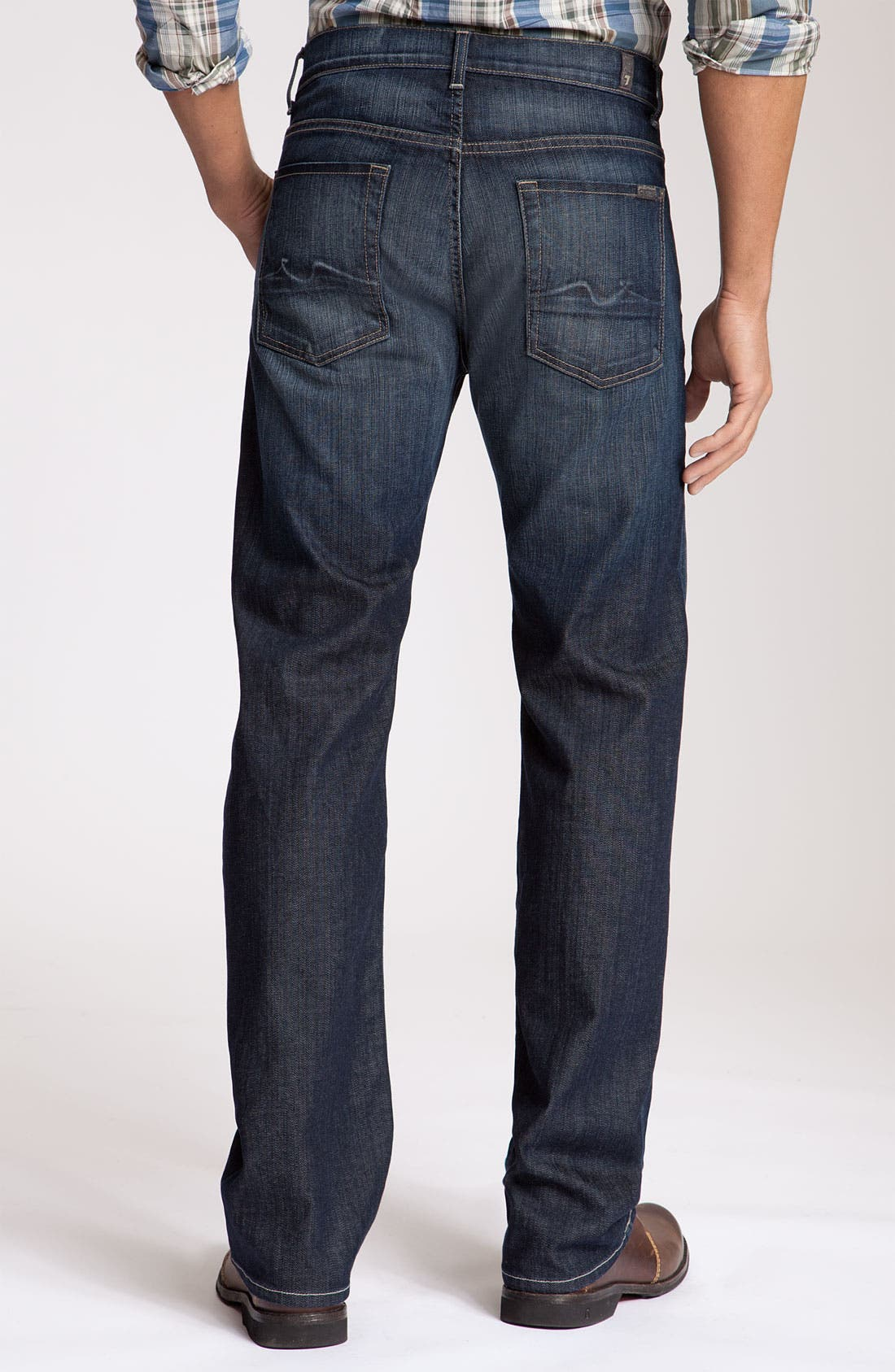 Alternate Image 1 Selected - 7 For All Mankind® 'Austyn' Relaxed Straight Leg Jeans (Nite Shadow)
