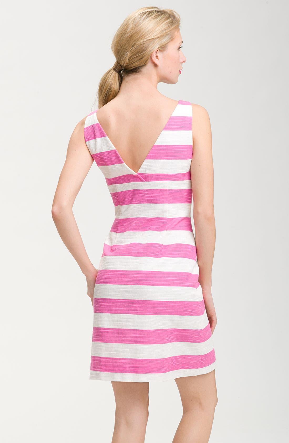 Alternate Image 2  - kate spade new york 'silverscreen' stripe bow front dress