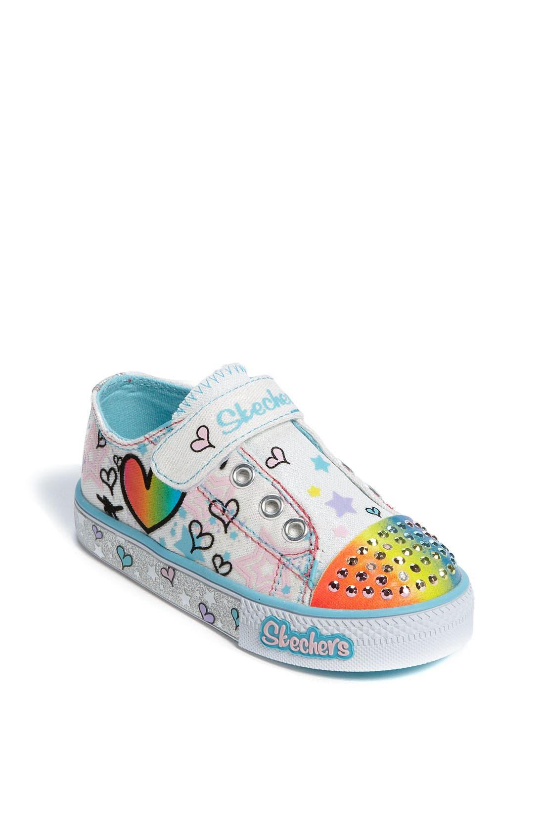Main Image - SKECHERS 'Peekaboo' Sneaker (Walker & Toddler)
