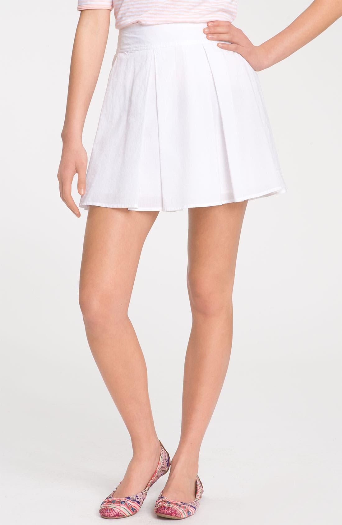 Alternate Image 1 Selected - Frenchi® Box Pleat Full Skirt (Juniors)