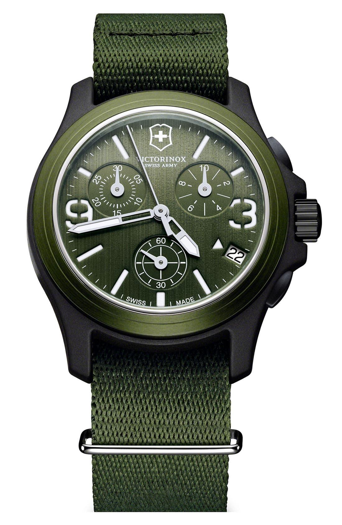 Main Image - Victorinox Swiss Army® 'Original' Chronograph Watch, 40mm