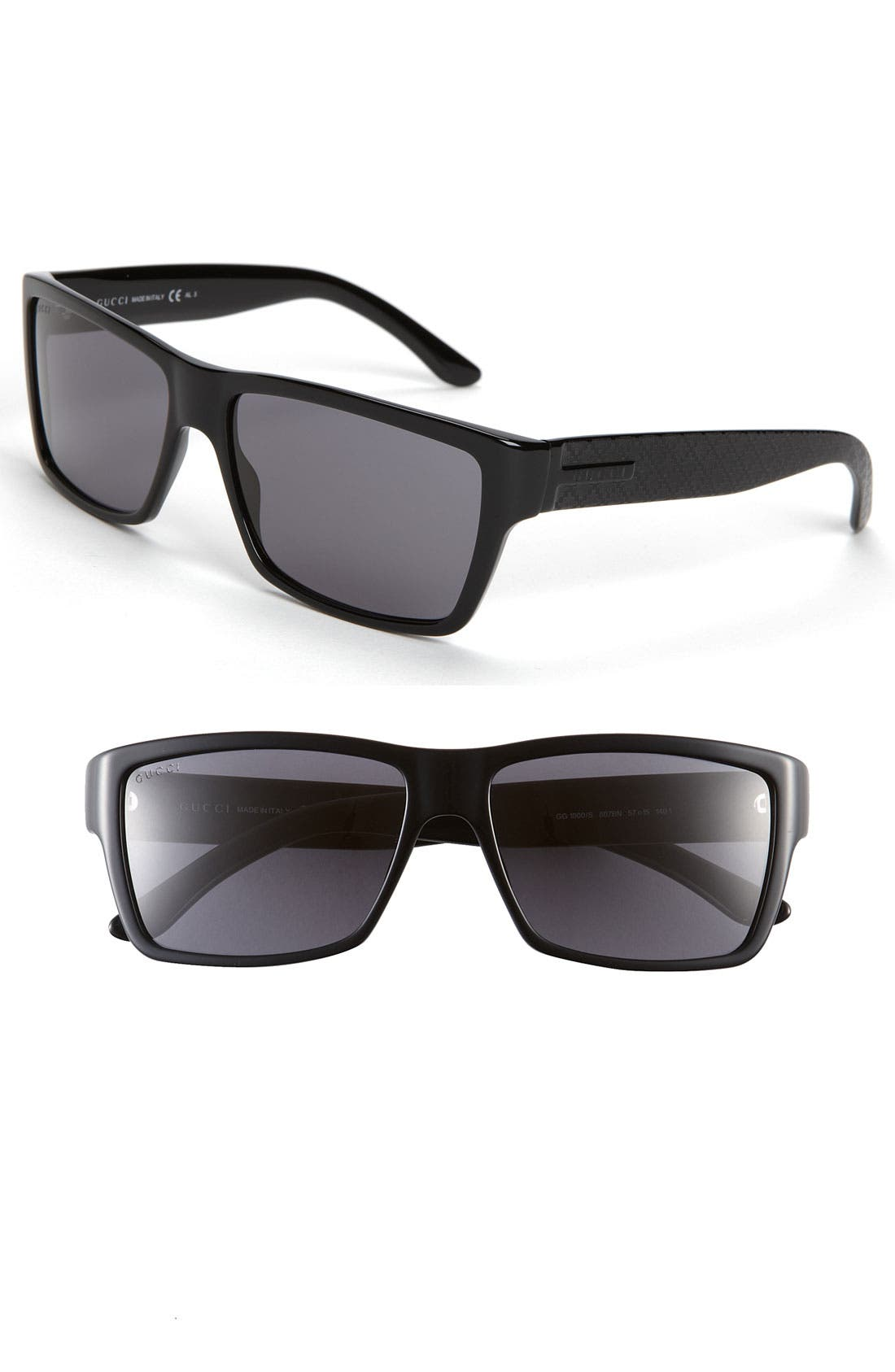 Alternate Image 1 Selected - Gucci Rectangular 57mm Sunglasses
