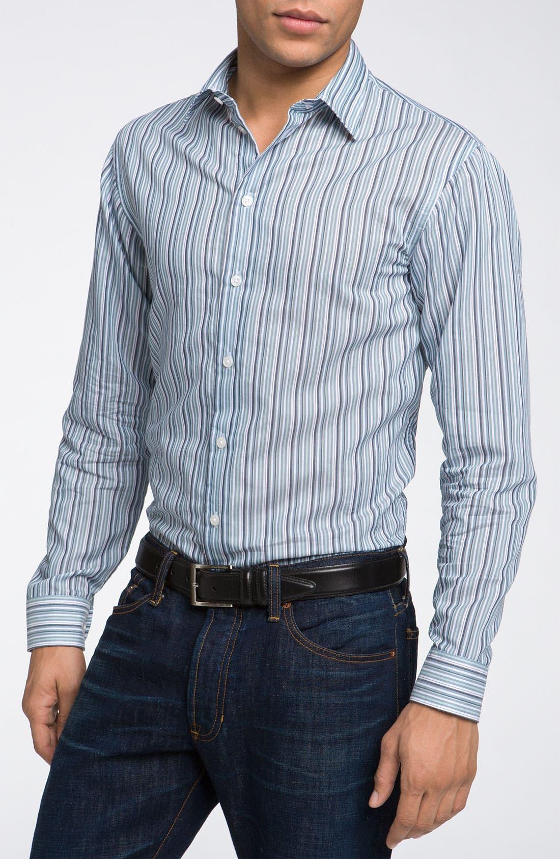 Alternate Image 1 Selected - Armani Collezioni Stripe Woven Shirt