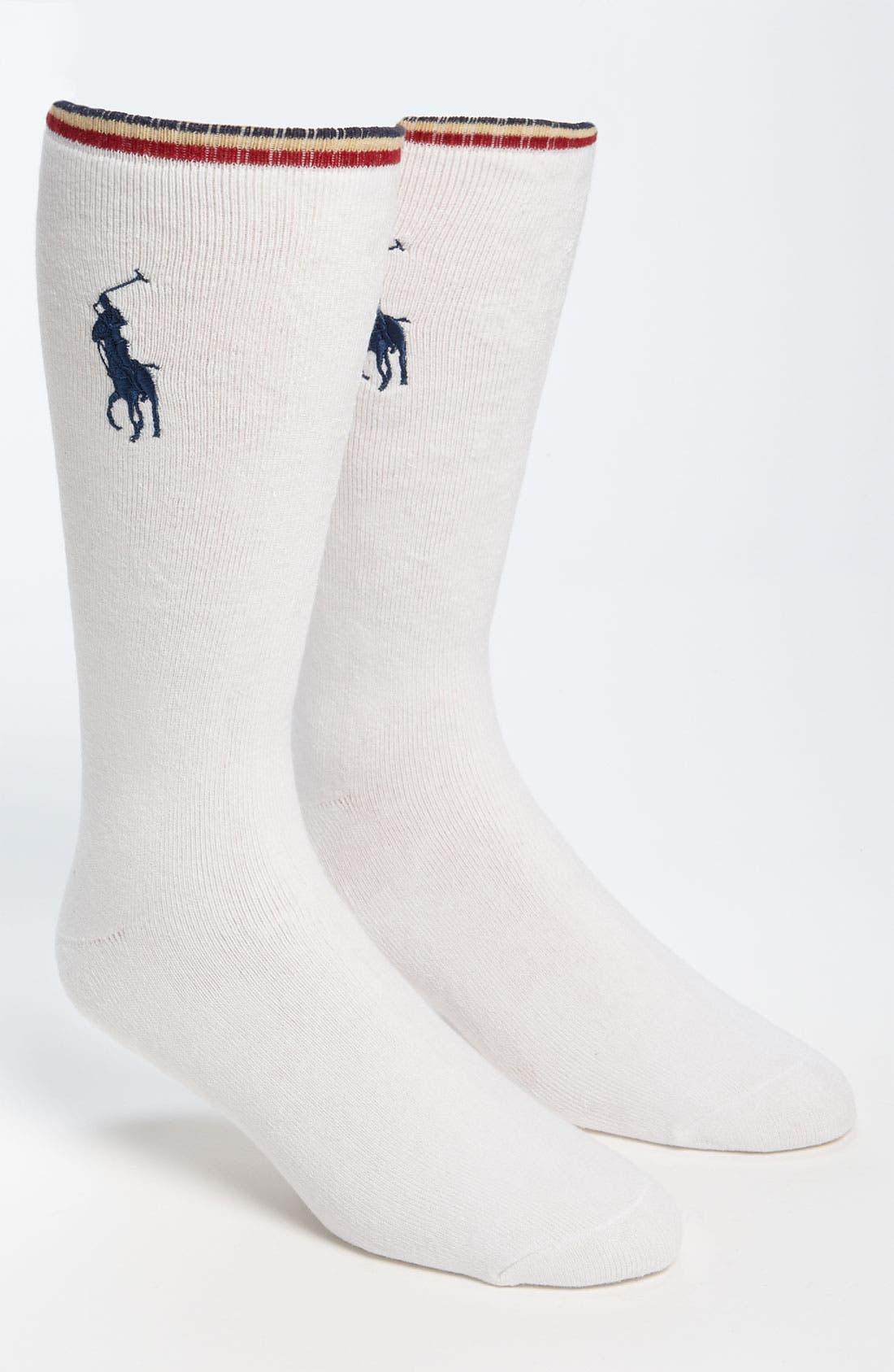 Alternate Image 1 Selected - Polo Ralph Lauren Cushion Socks (2-Pack)