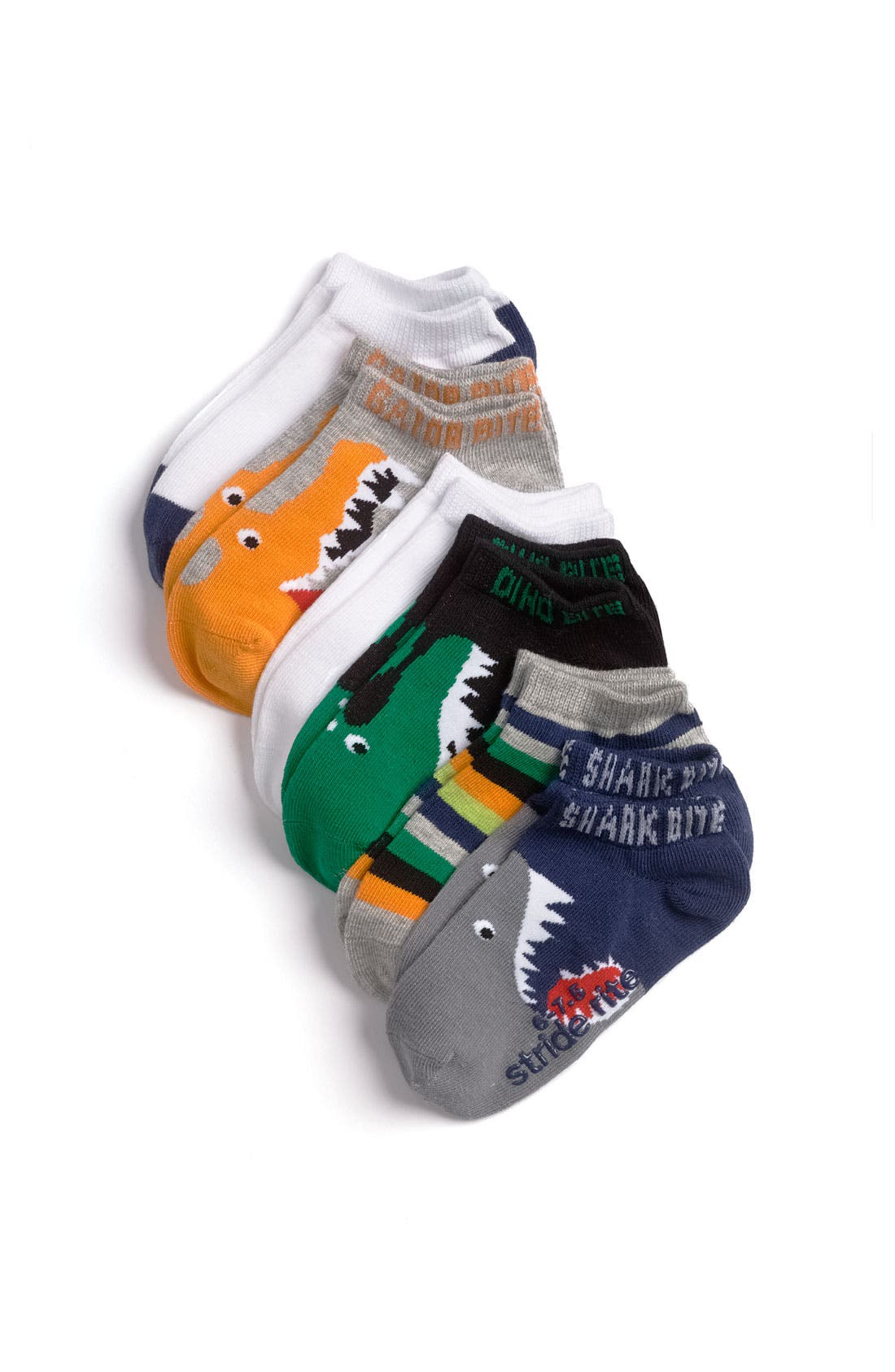 Main Image - Stride Rite 'Big Bites' Socks (6-Pack) (Toddler & Little Kid)