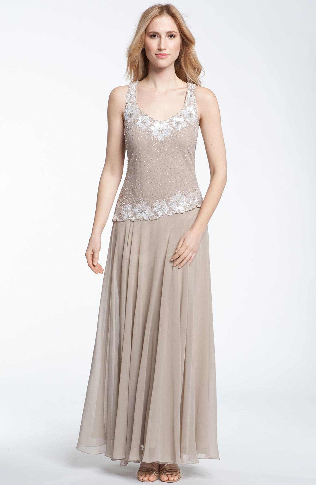 Alternate Image 2  - J Kara Beaded Dress & Bolero