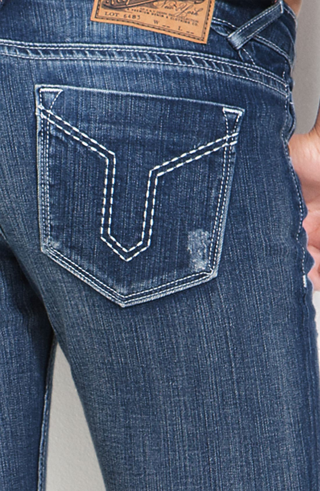 Alternate Image 3  - Vigoss 'Double V' Skinny Stretch Jeans (Juniors)