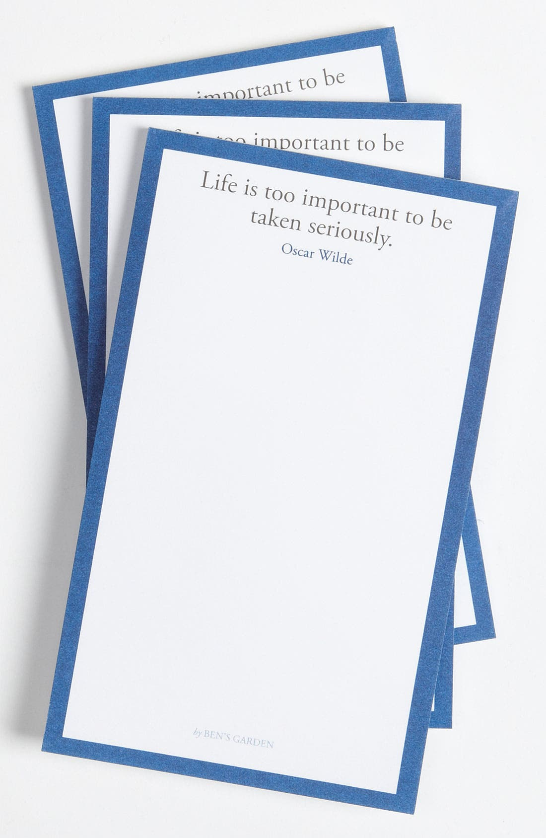 Alternate Image 1 Selected - Ben's Garden 'Too Important' Notepads (3-Pack)