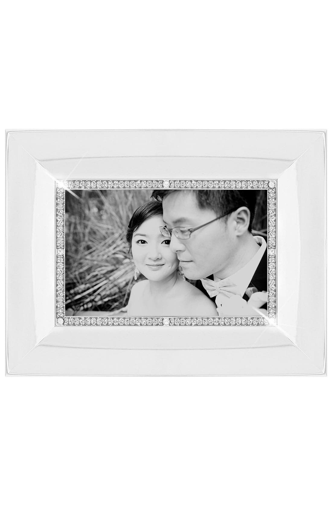 Alternate Image 1 Selected - Concave Crystal & Metal Picture Frame