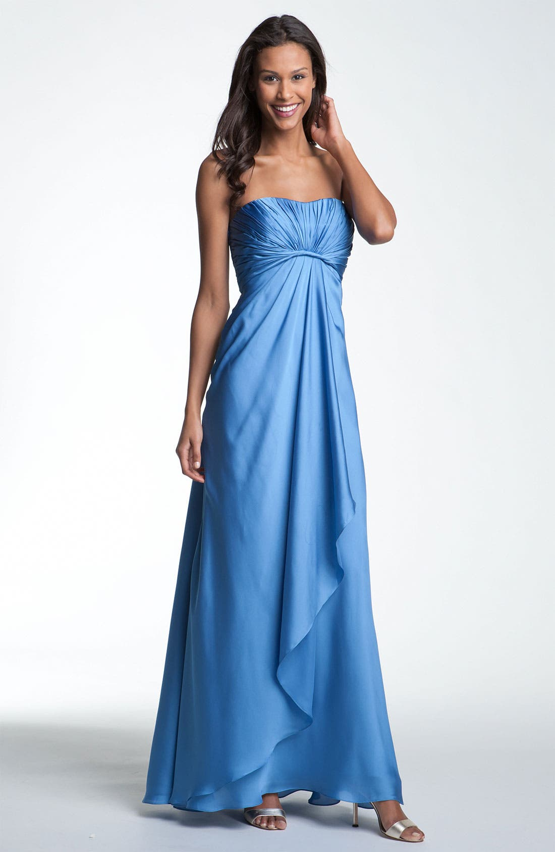 Alternate Image 1 Selected - ML Monique Lhuillier Bridesmaids Strapless Gown (Nordstrom Exclusive)