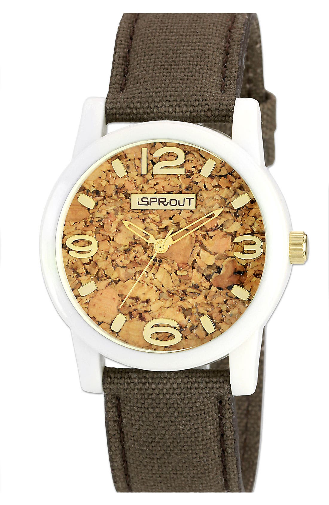 Alternate Image 1 Selected - SPROUT™ Watches Cork Dial Strap Watch, 38mm