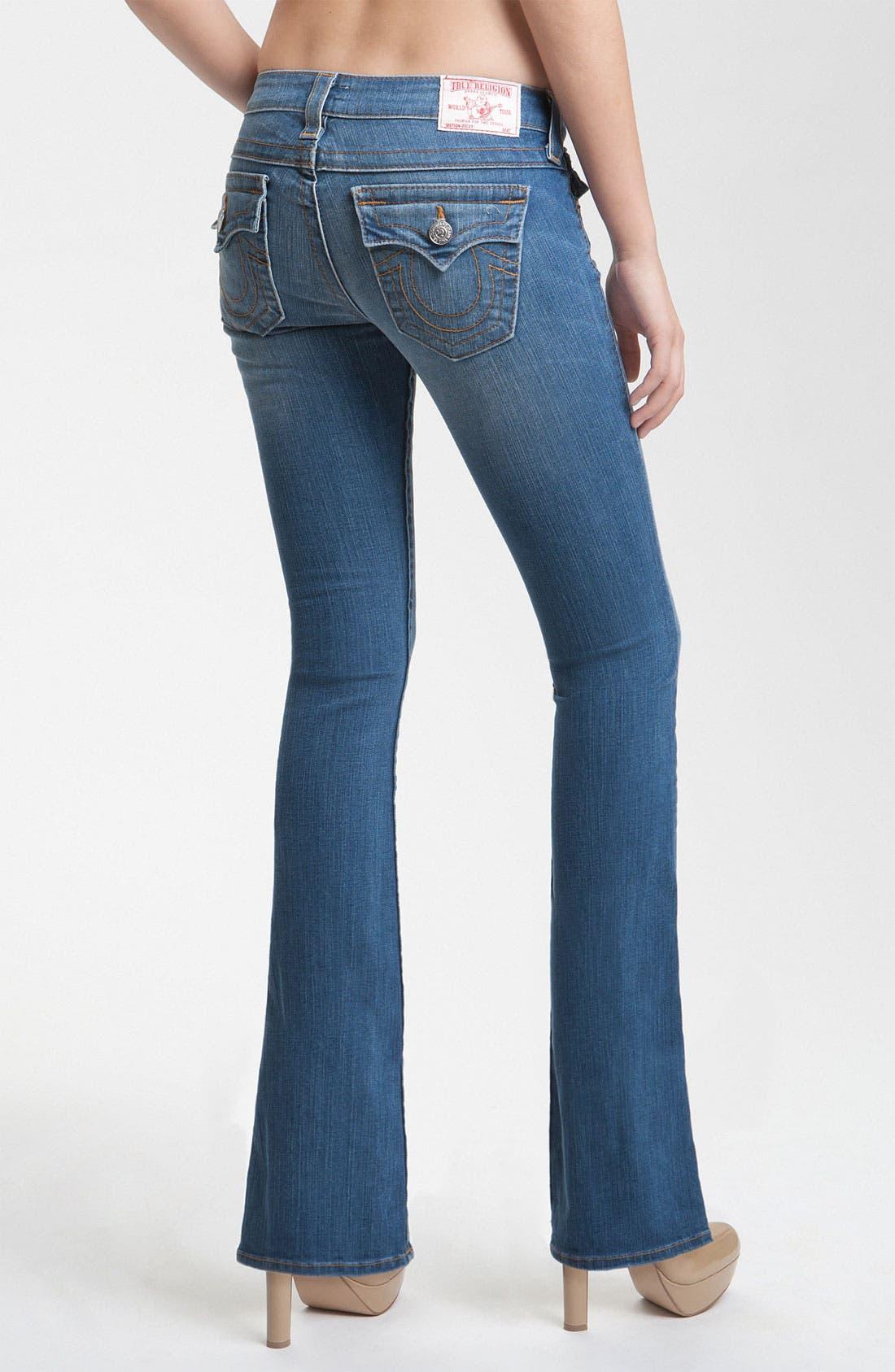 Alternate Image 2  - True Religion Brand Jeans 'Becky' Bootcut Jeans (Short Fuse)(Petite)