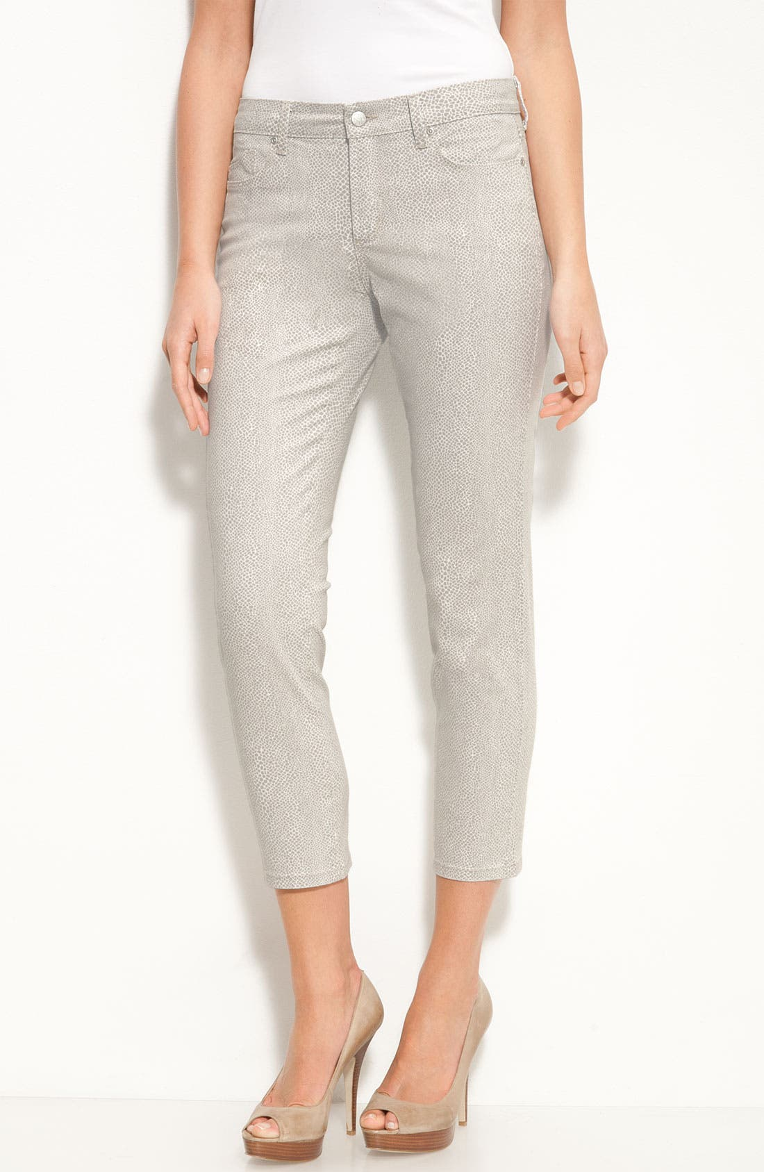 Alternate Image 1 Selected - NYDJ 'Alisha' Print Skinny Stretch Jeans (Petite)