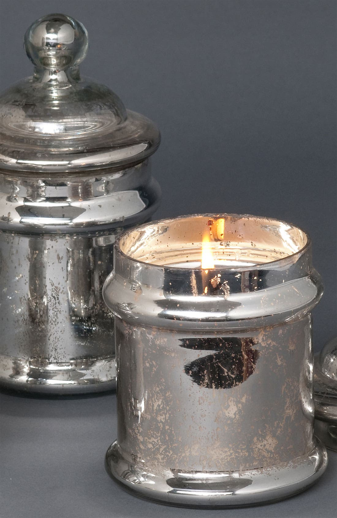 Alternate Image 2  - Himalayan Trading Post Silver Candy Jar Candle