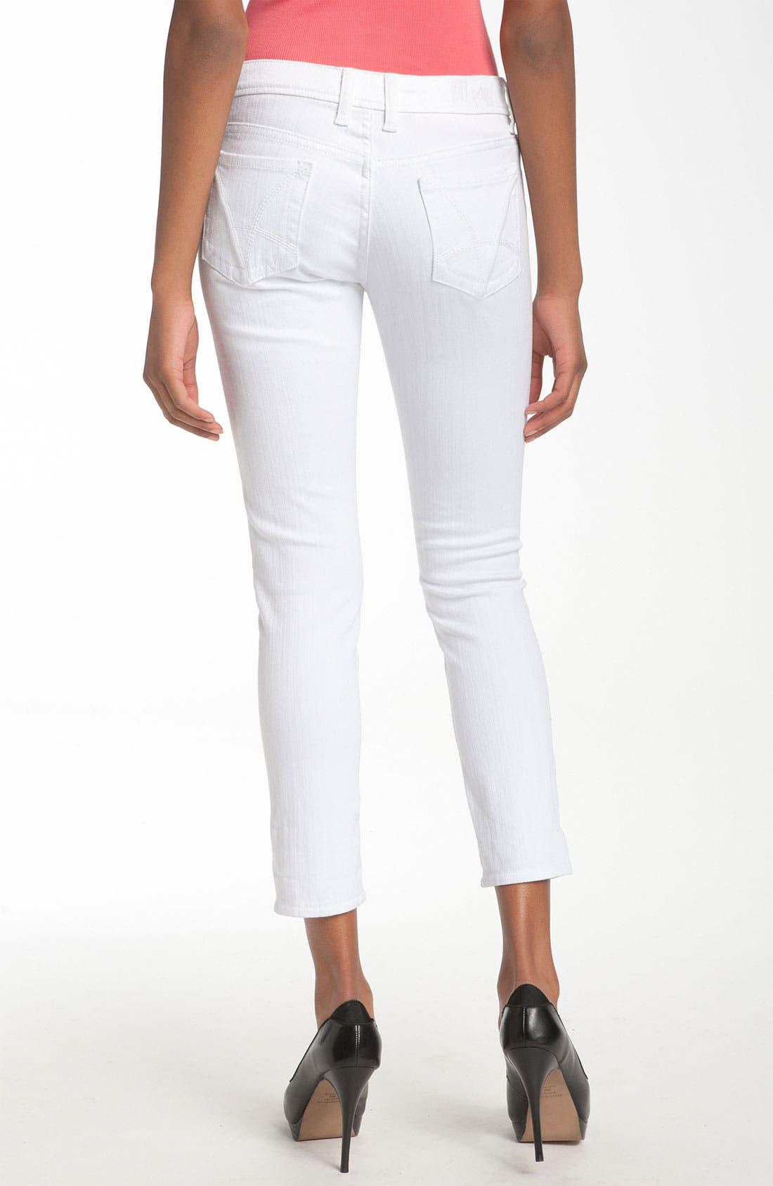 Main Image - KUT from the Kloth 'Catherine' Slim Boyfriend Jeans (White Wash)