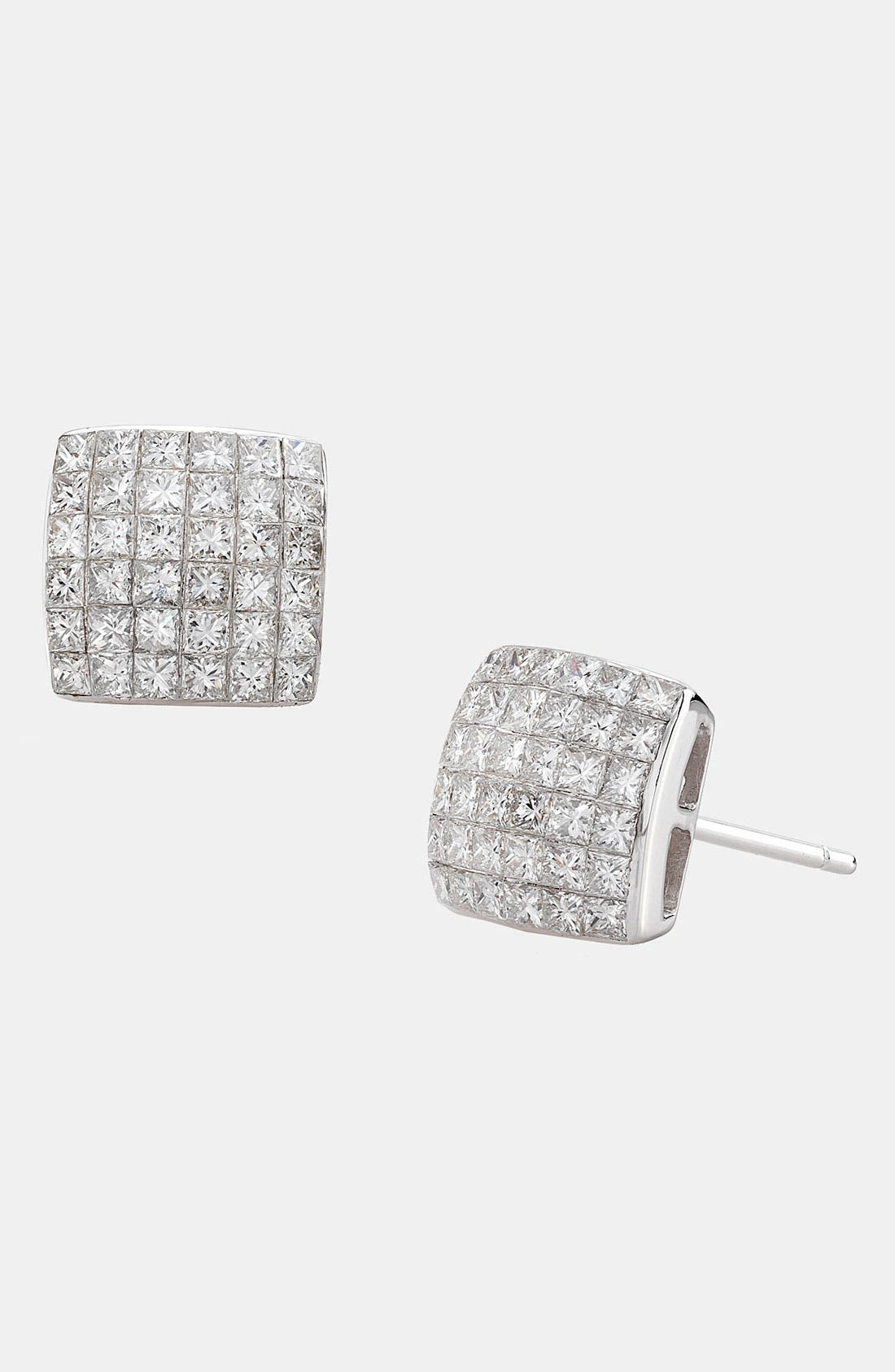 Main Image - Bony Levy Princess Cut Diamond Stud Earrings (Nordstrom Exclusive)