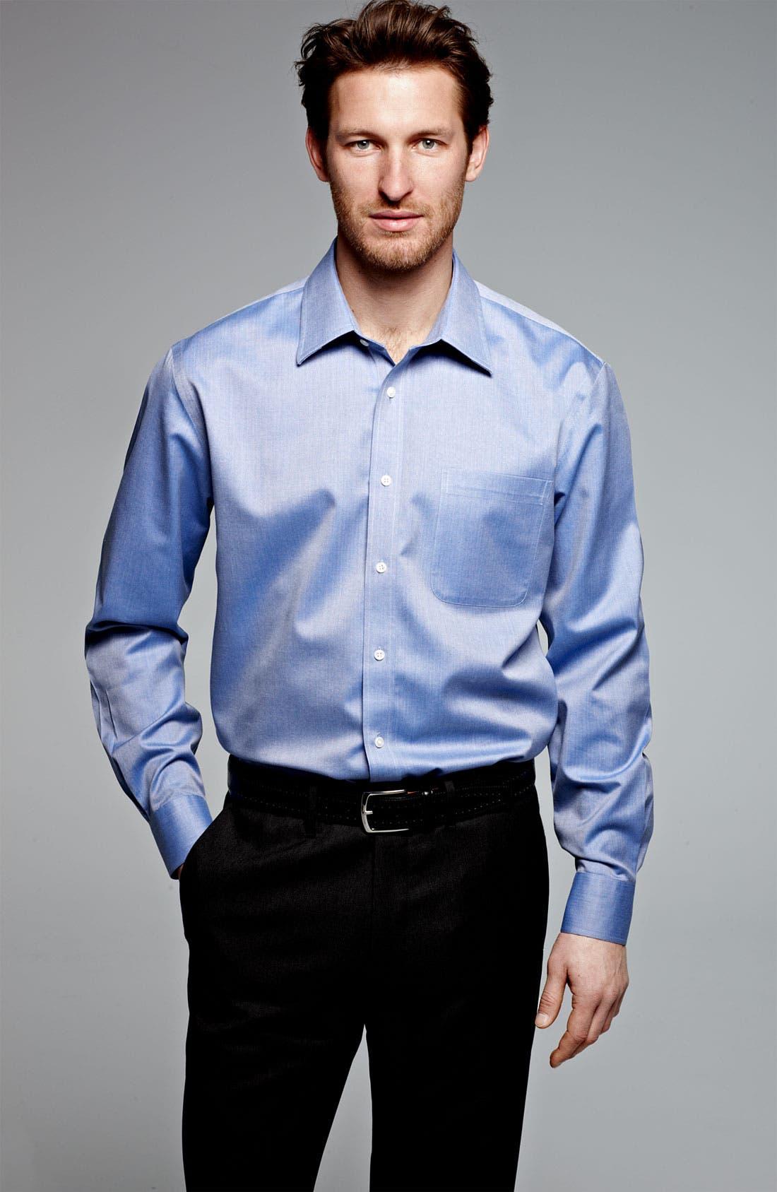 Alternate Image 10  - Nordstrom Men's Shop Smartcare™ Wrinkle Free Traditional Fit Herringbone Dress Shirt