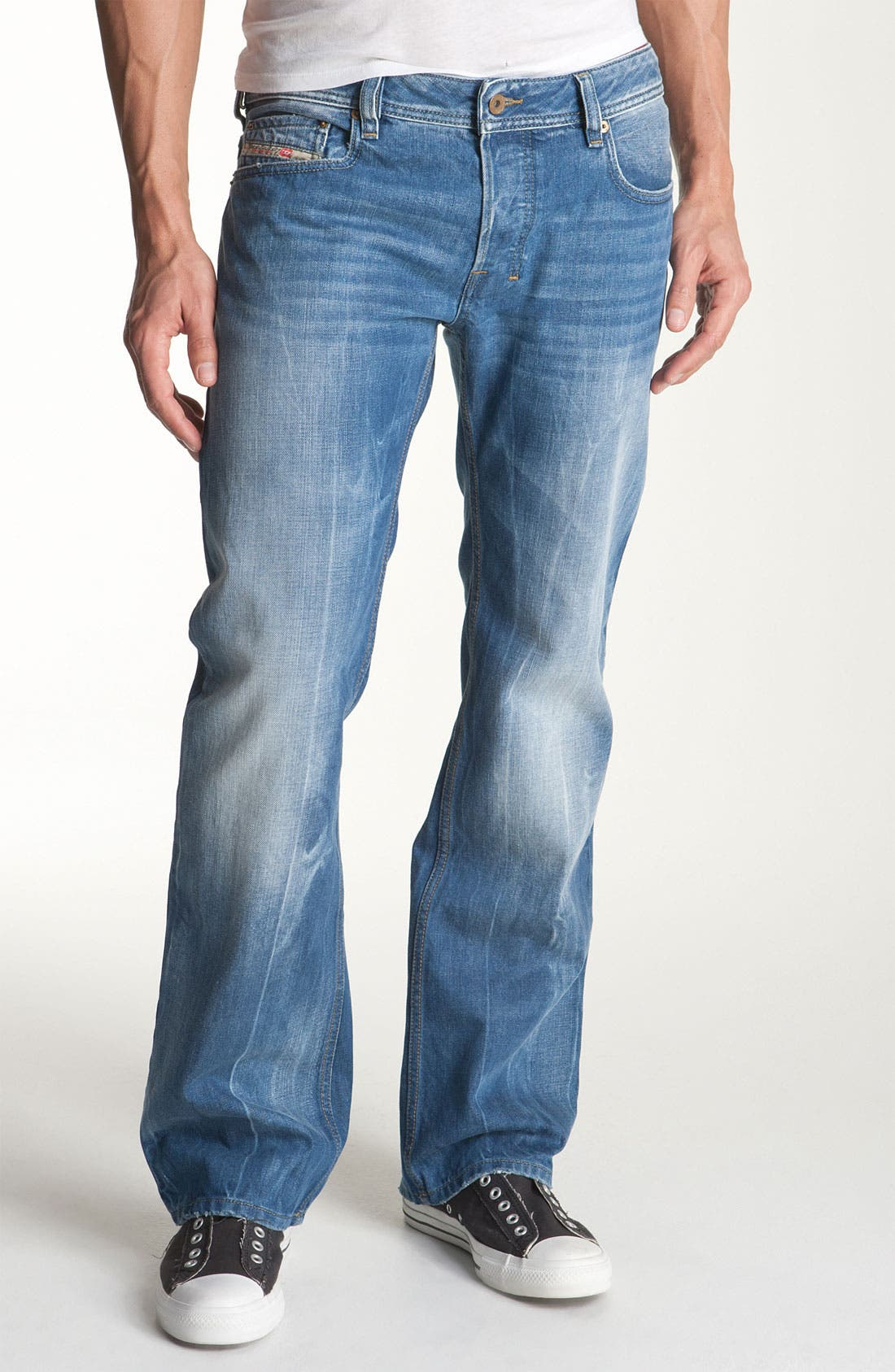 Alternate Image 2  - DIESEL® 'Zatiny' Bootcut Jeans (888B)