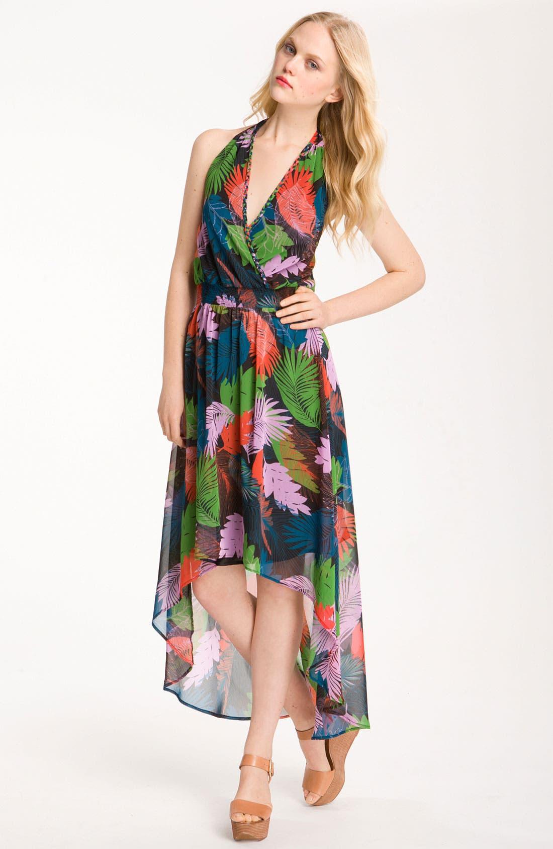Main Image - Bellatrix Print Chiffon Halter Dress