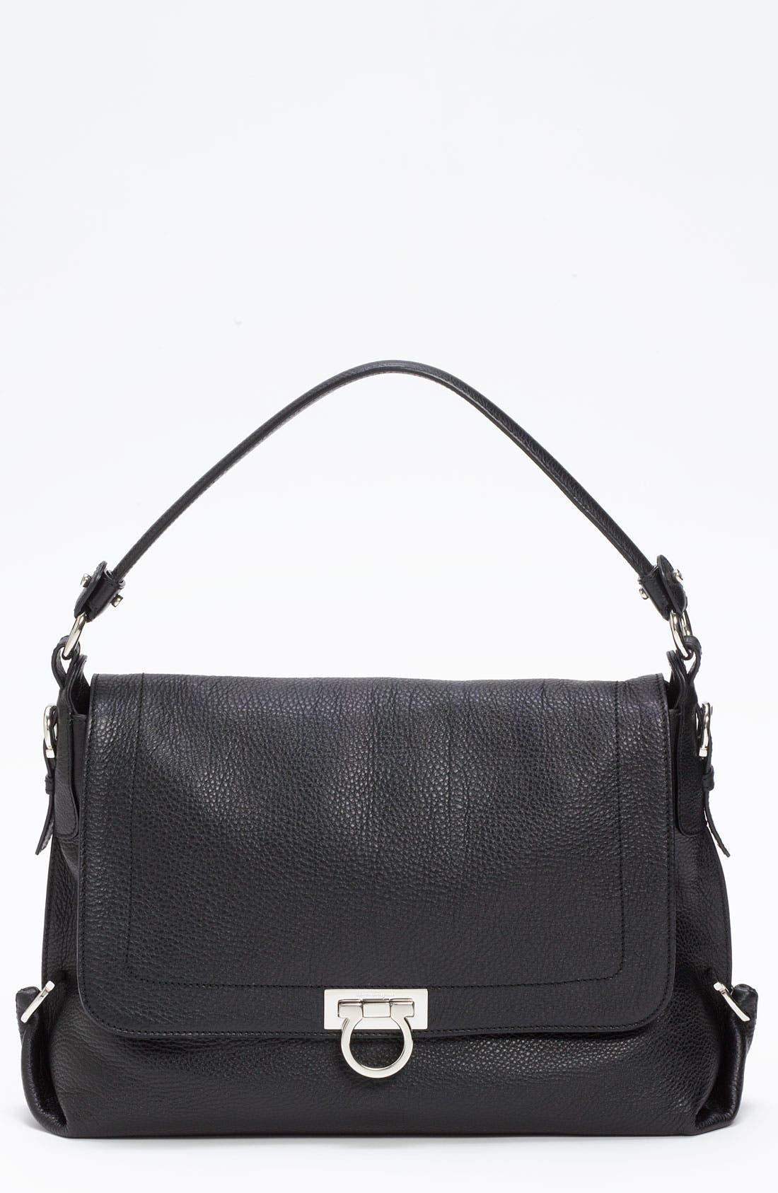 Alternate Image 1 Selected - Salvatore Ferragamo 'Avye' Leather Shoulder Bag