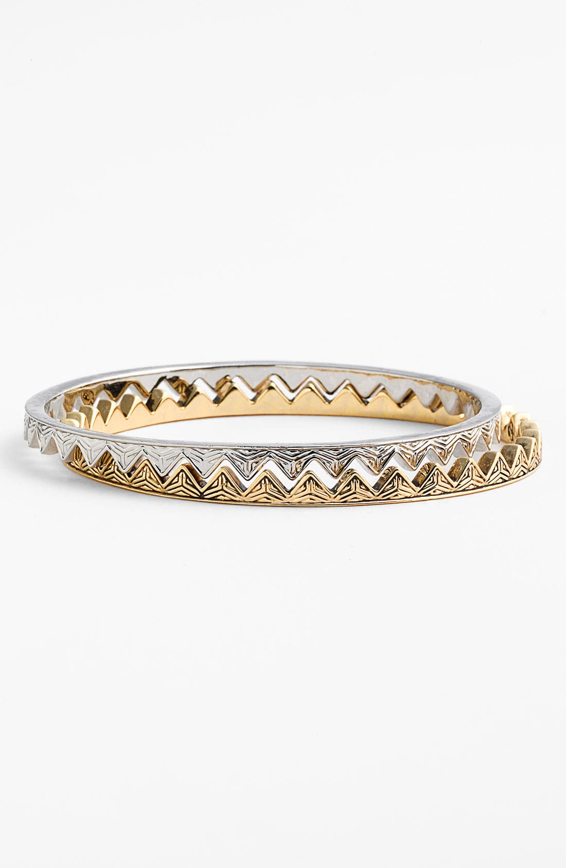 Alternate Image 1 Selected - House of Harlow 1960 Engraved Triangle Bangles (Set of 2)