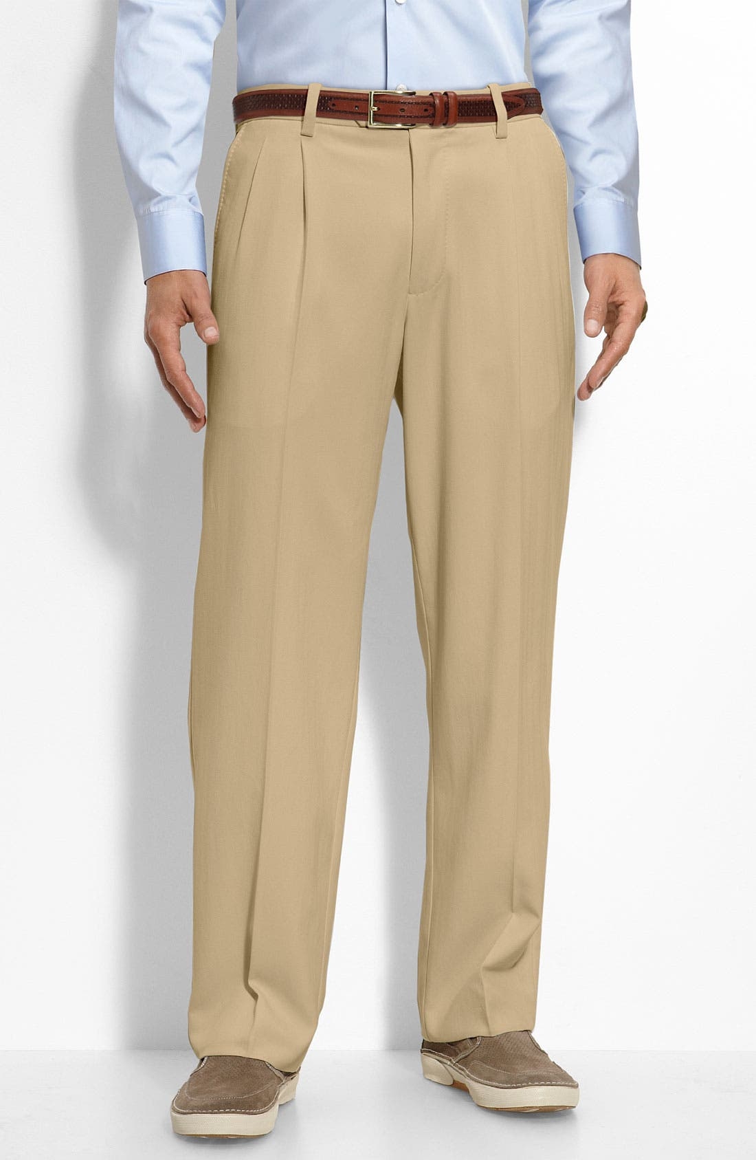 Main Image - Tommy Bahama 'Flying Fishbone' Pleated Pants (Big & Tall)