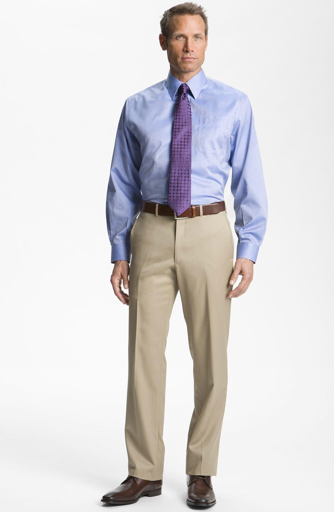 Alternate Image 3  - Nordstrom Men's Shop Smartcare™ Wrinkle Free Traditional Fit Herringbone Dress Shirt